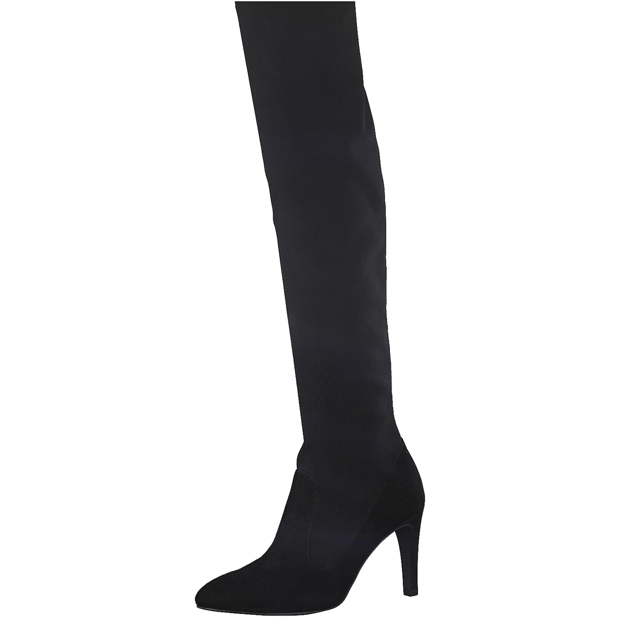 TAMARIS, Dames Overknee laarzen, zwart