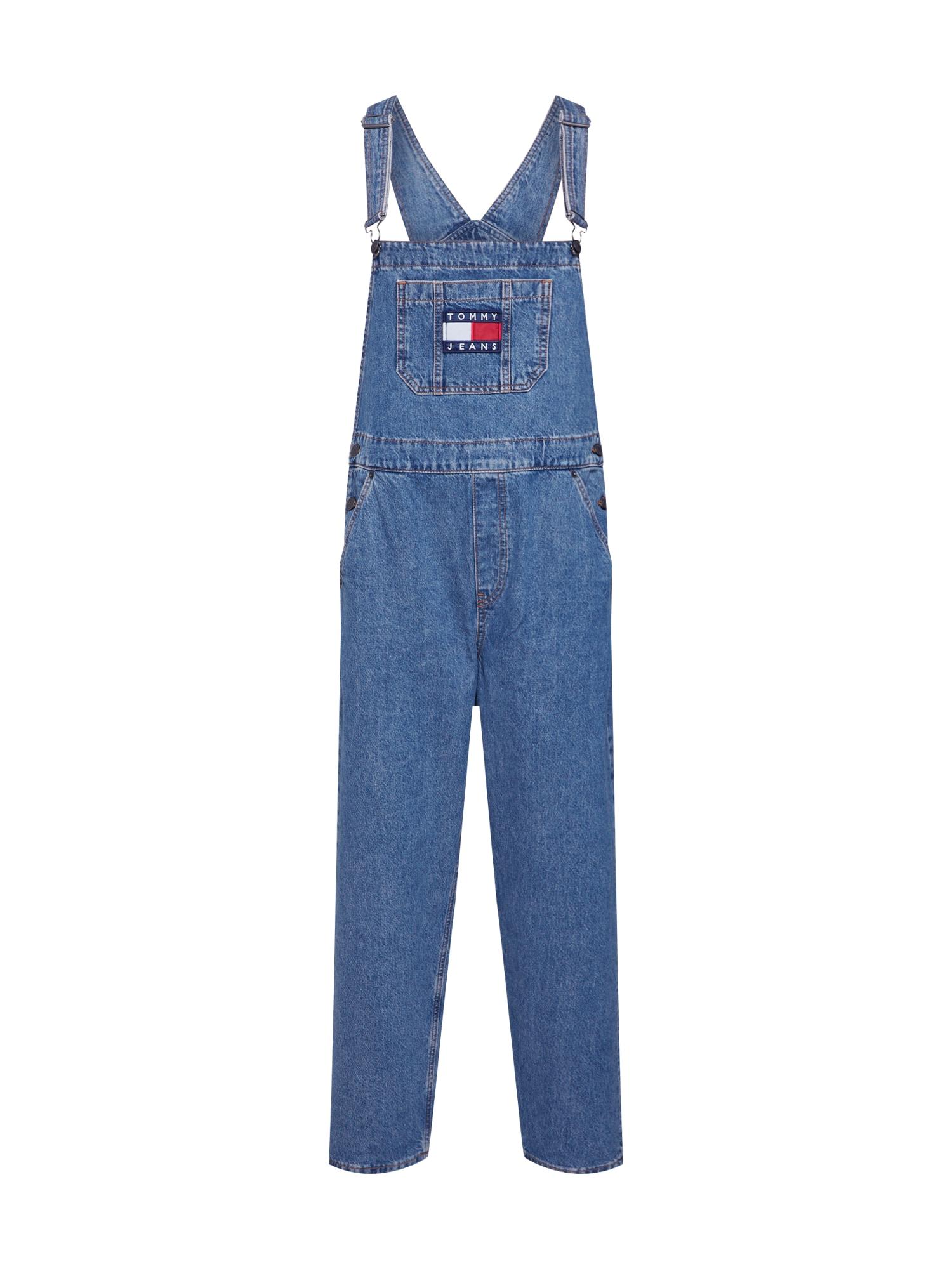 Džíny s laclem modrá džínovina Tommy Jeans