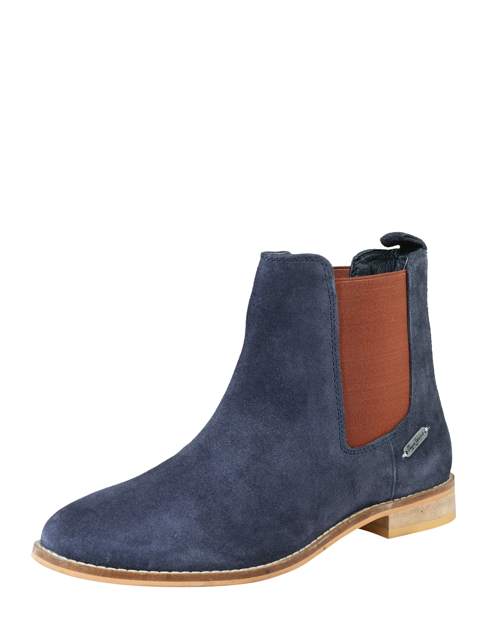 Pepe Jeans Dames Chelsea boots Galp navy roestbruin