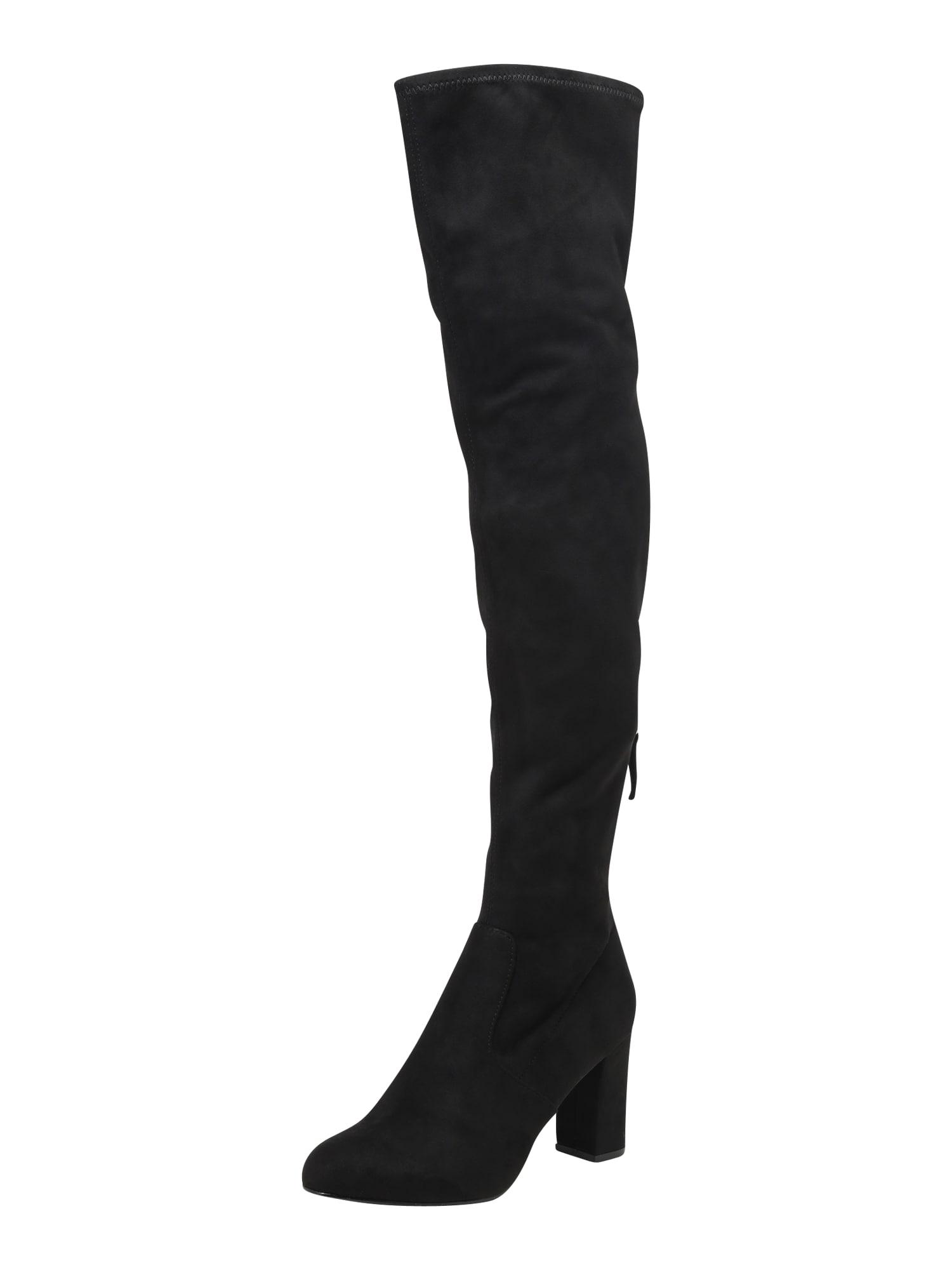 STEVE MADDEN, Dames Overknee laarzen 'ANTON', zwart