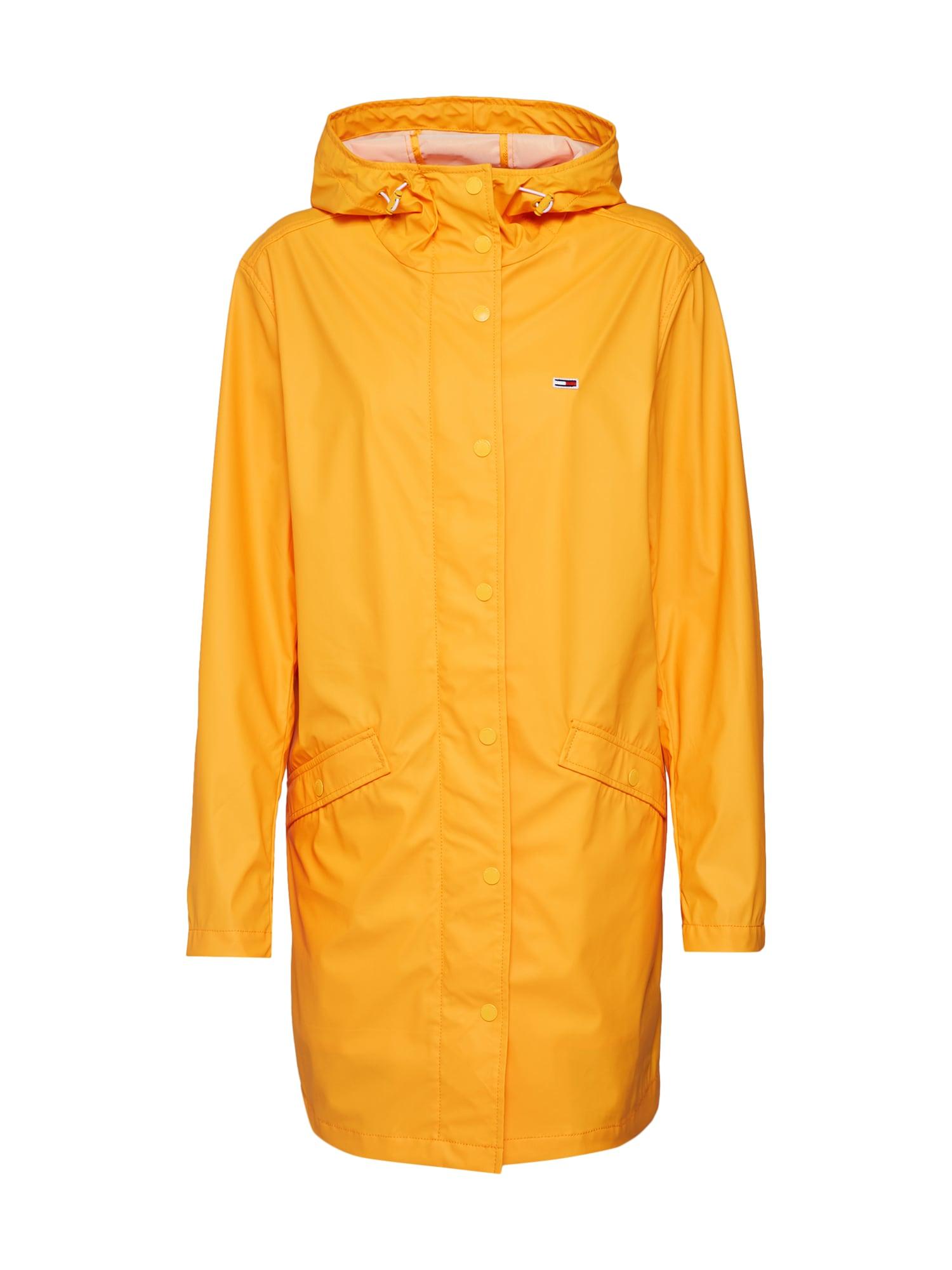 Přechodný kabát RAIN JACKET zlatě žlutá Tommy Jeans