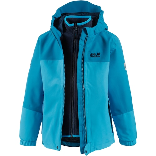 JACK WOLFSKIN 3-in-1-Funktionsjacke 'CELAND 3in1 GIRLS' 630924870