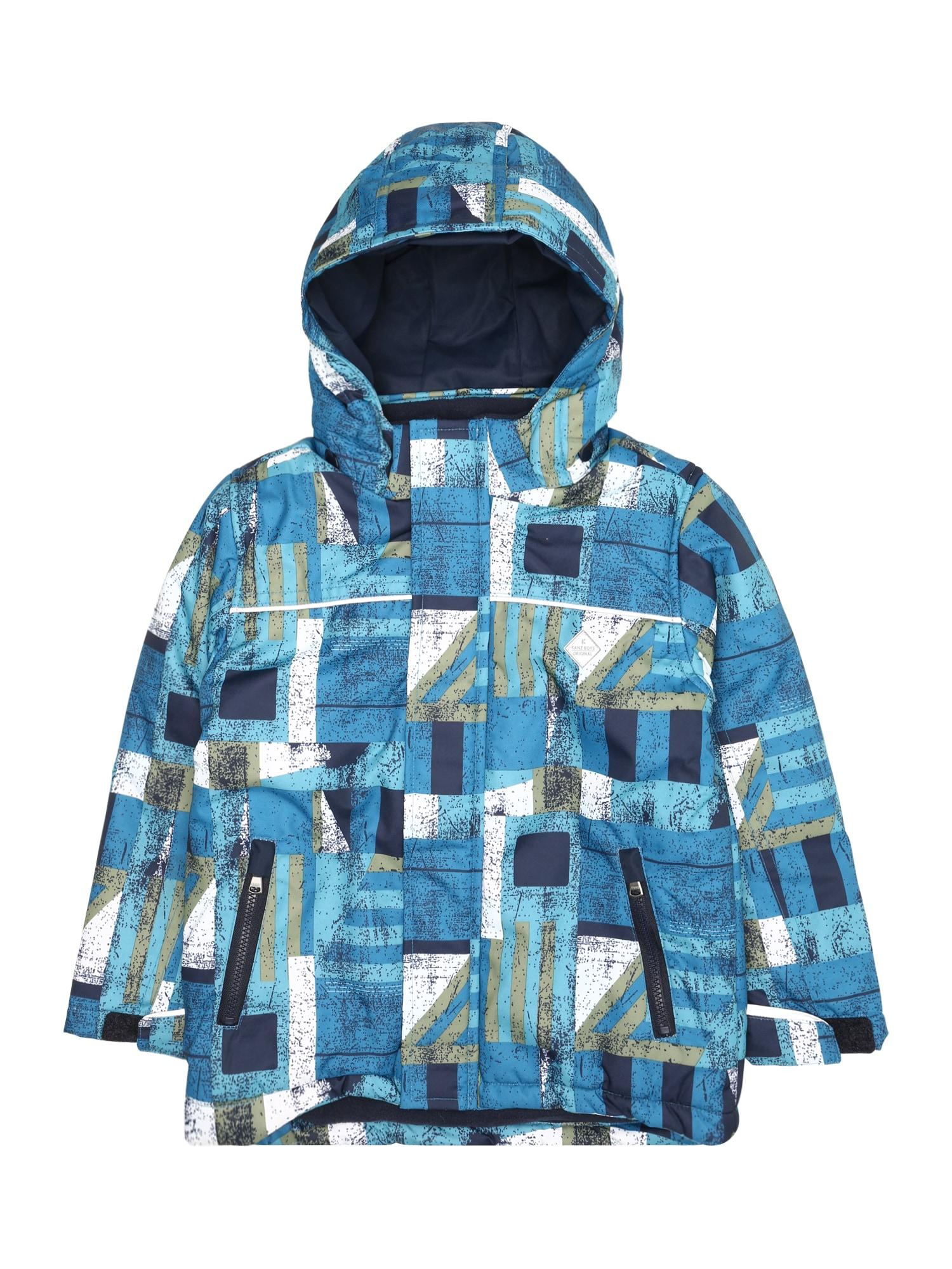 Zimní bunda modrá zelená KANZ