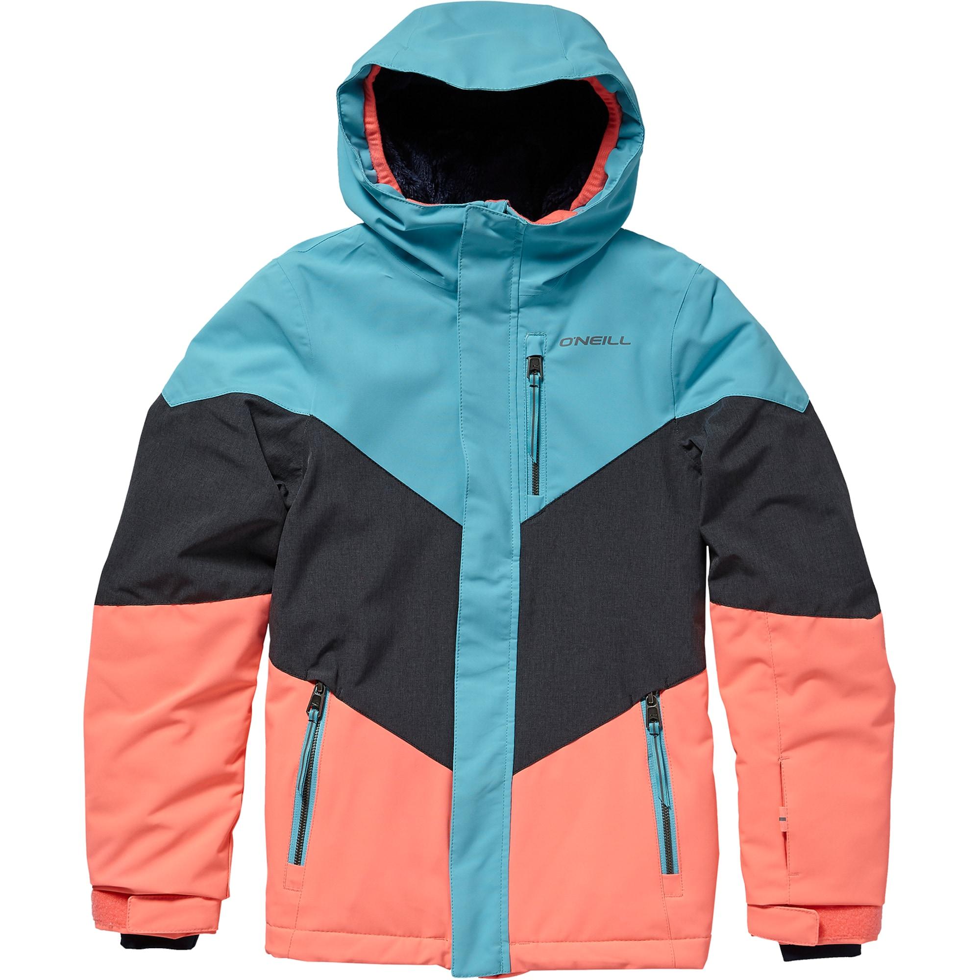 ONEILL Zimní bunda PG CORAL JACKET světlemodrá antracitová broskvová O'NEILL