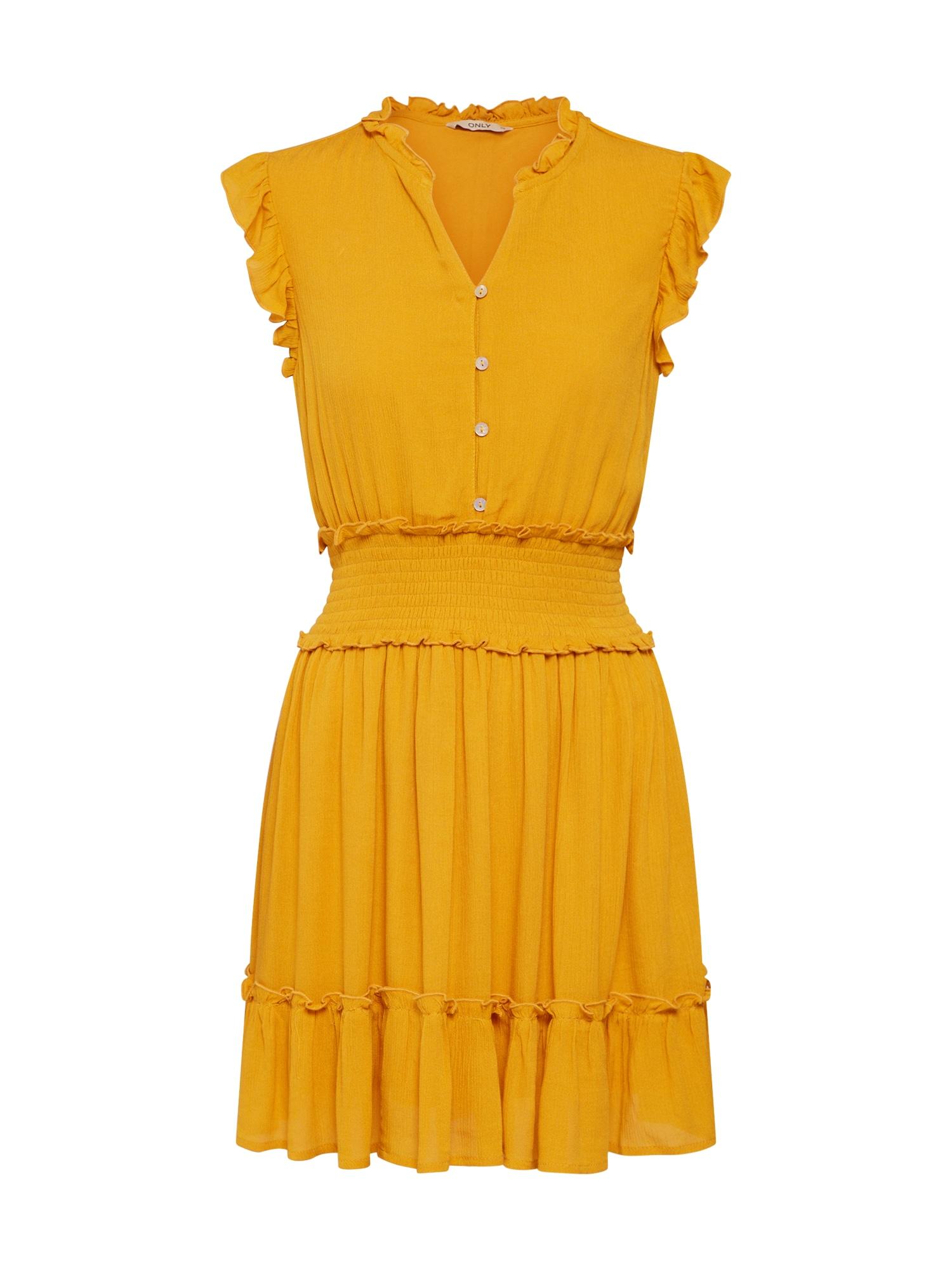Šaty zlatě žlutá ONLY