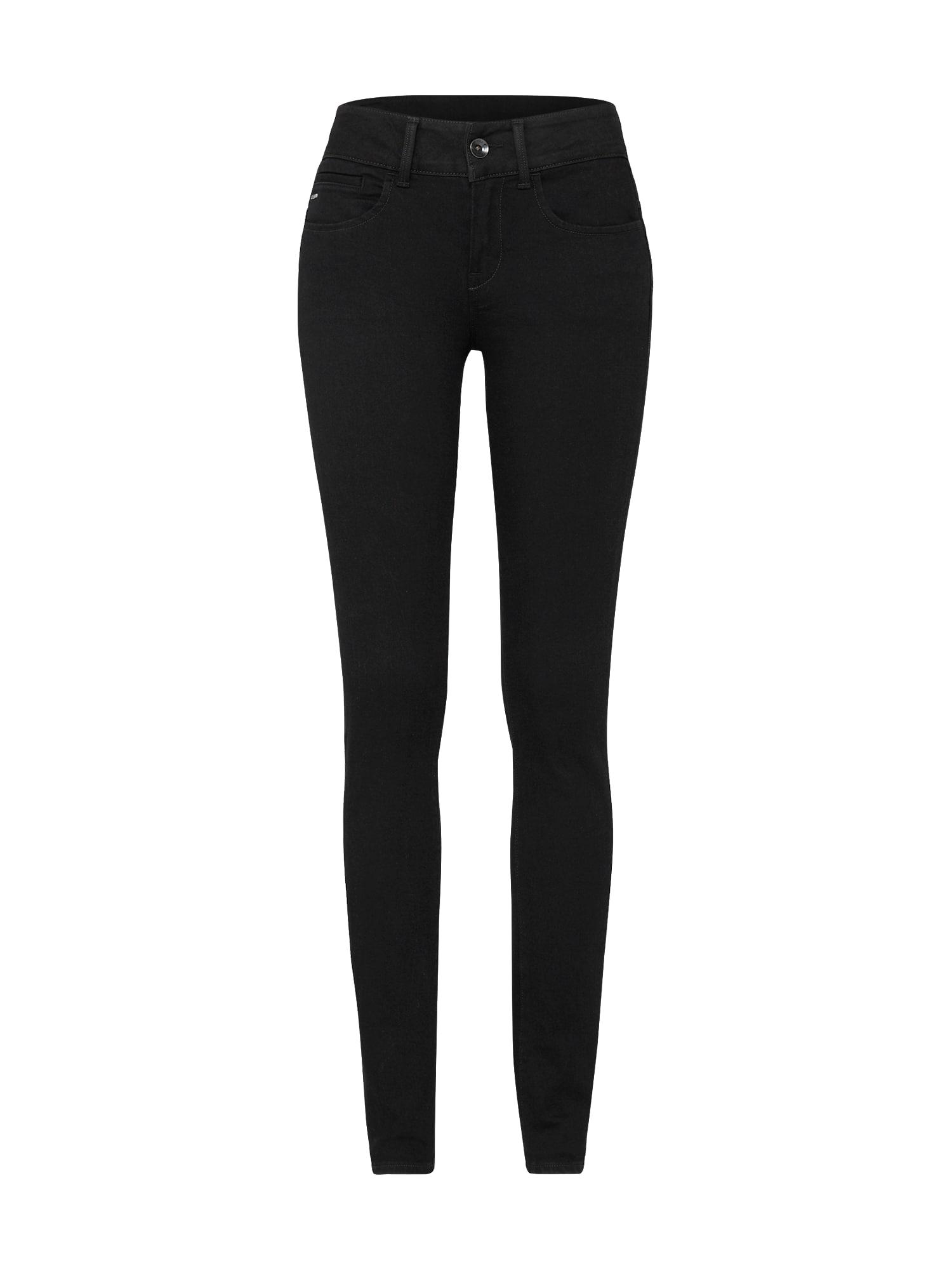 G-STAR RAW Dames Jeans Midge d-Cody zwart