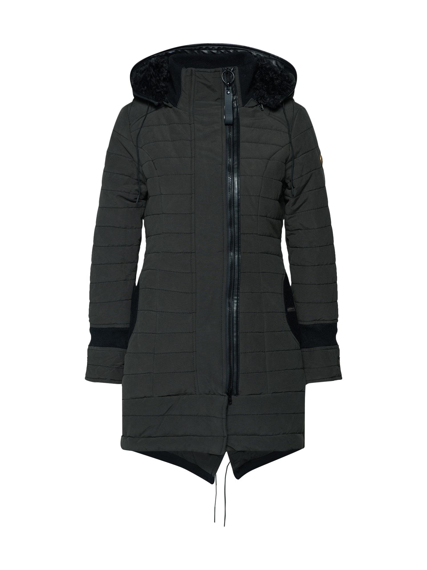Přechodný kabát CAYUS2 černá Khujo