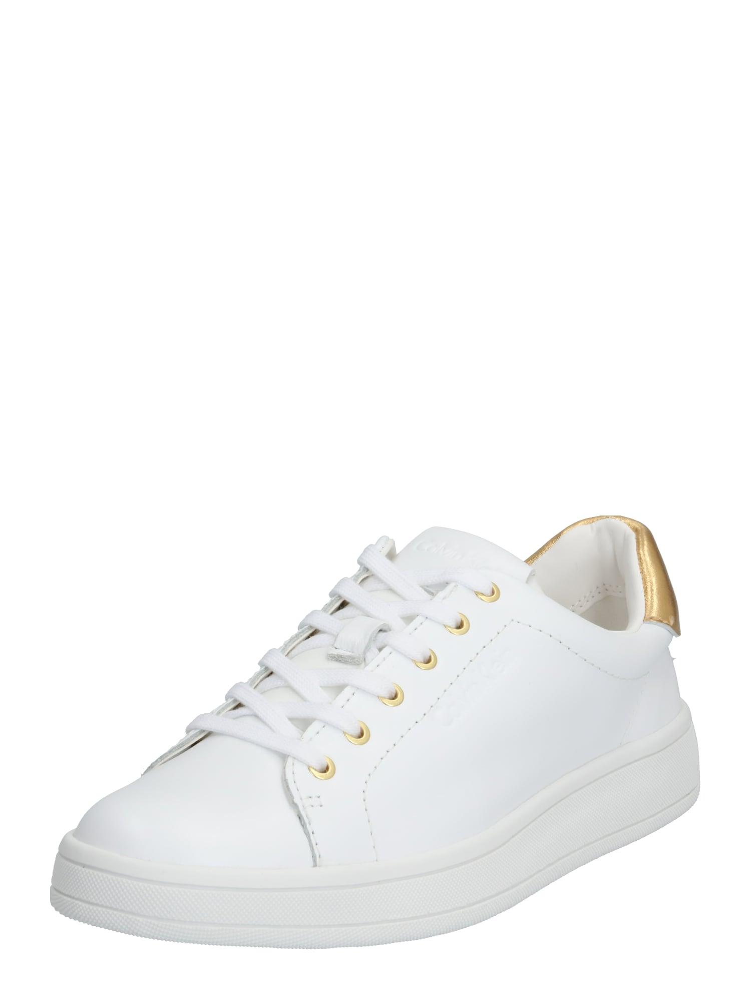 Calvin Klein Nízke tenisky 'SOLANGE'  zlatá / biela