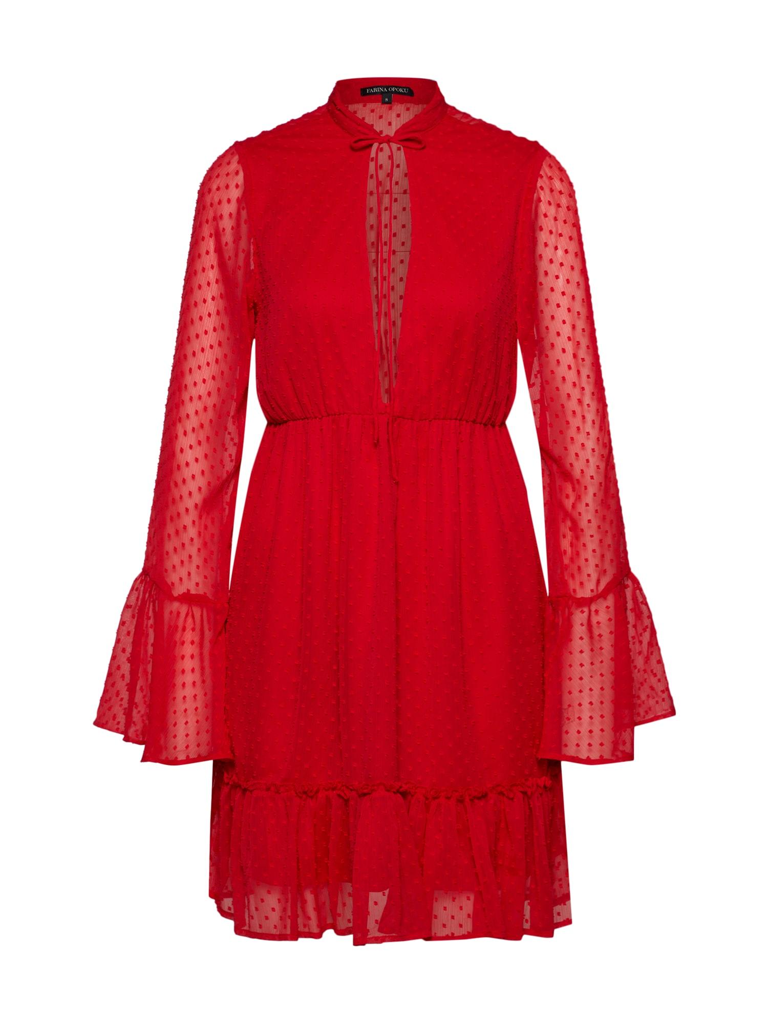 Šaty YADLEEN červená Farina Opoku