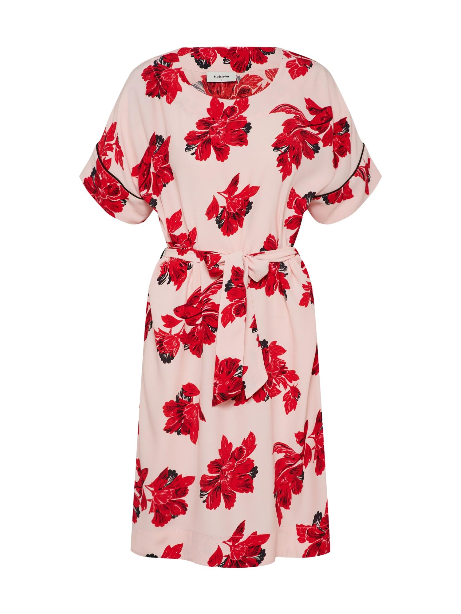 Modström Sukienka koktajlowa  różowy pudrowy / czerwony