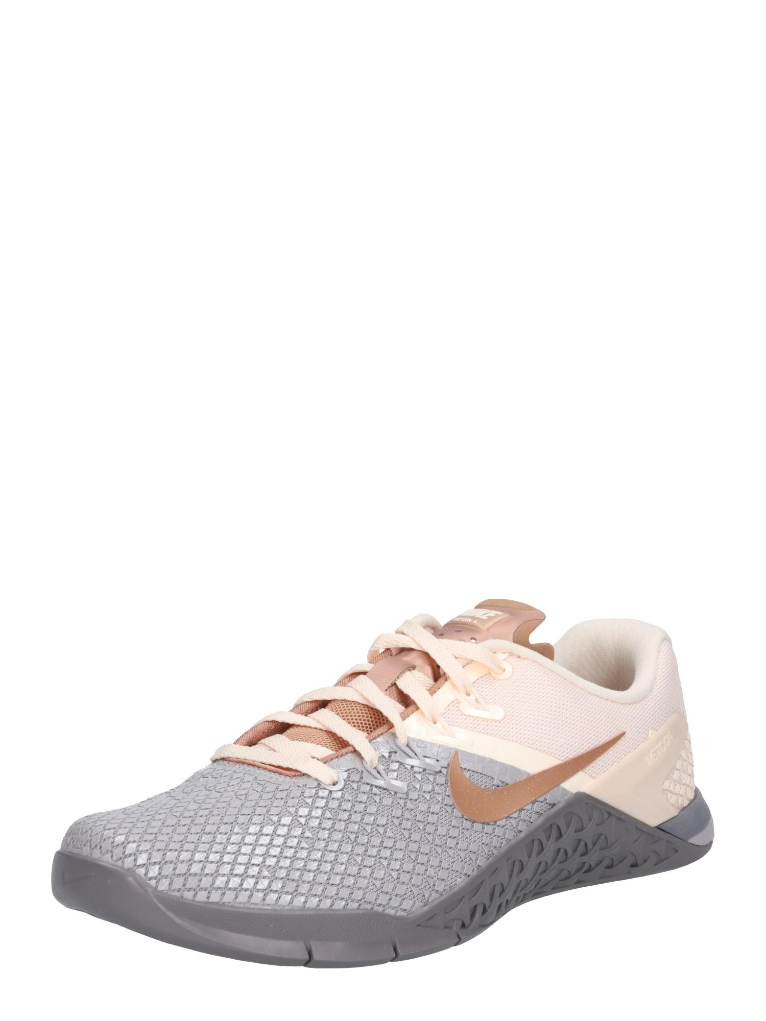 NIKE, Dames Sportschoen 'Nike Metcon 4 XD Metallic', beige / bruin / grijs