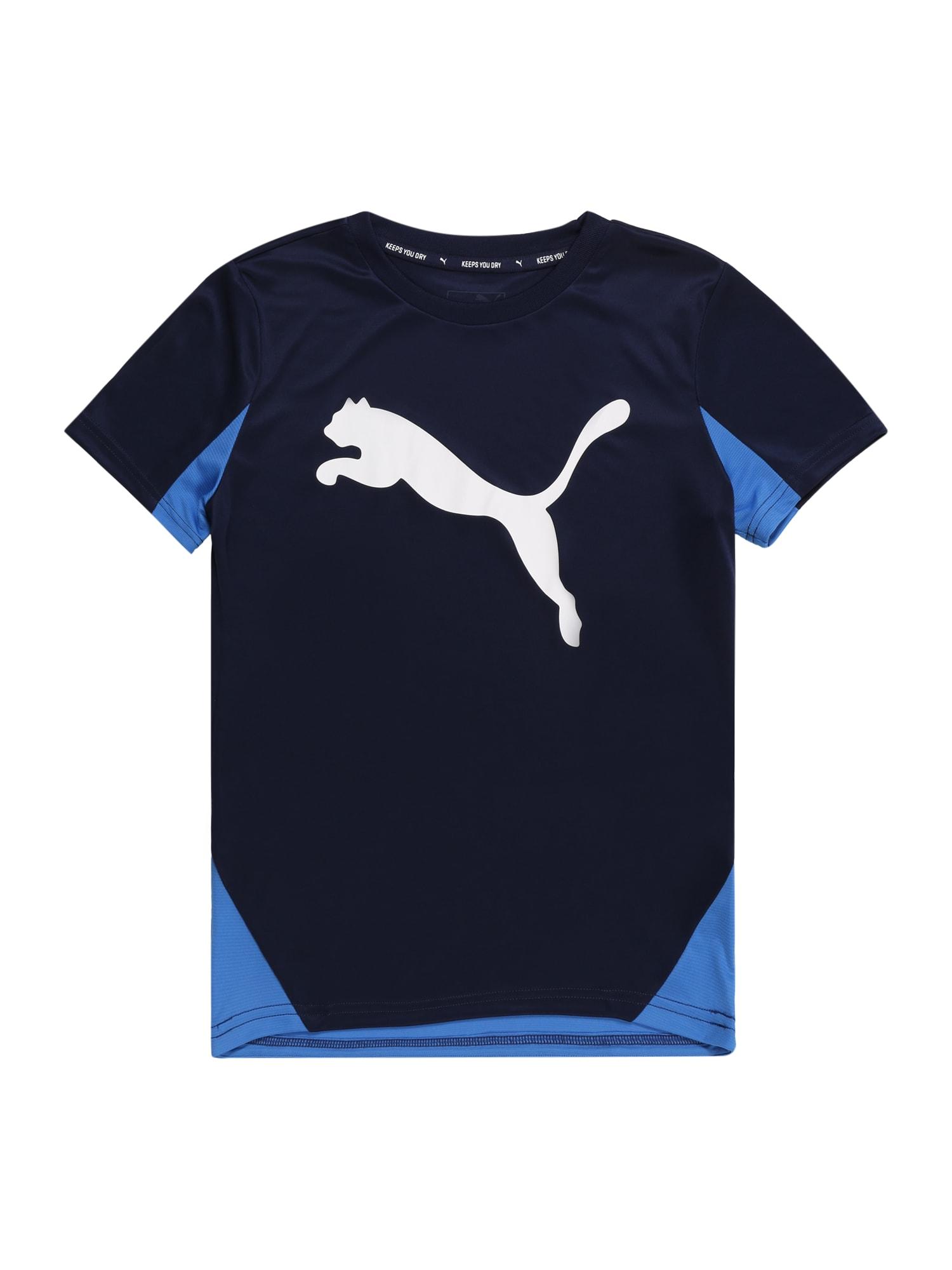 PUMA Funkčné tričko 'Cat Graphic Poly'  námornícka modrá