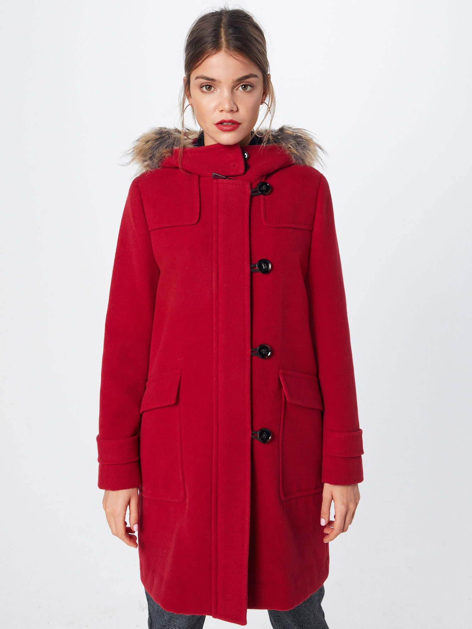 COMMA, Dames Wintermantel, rood