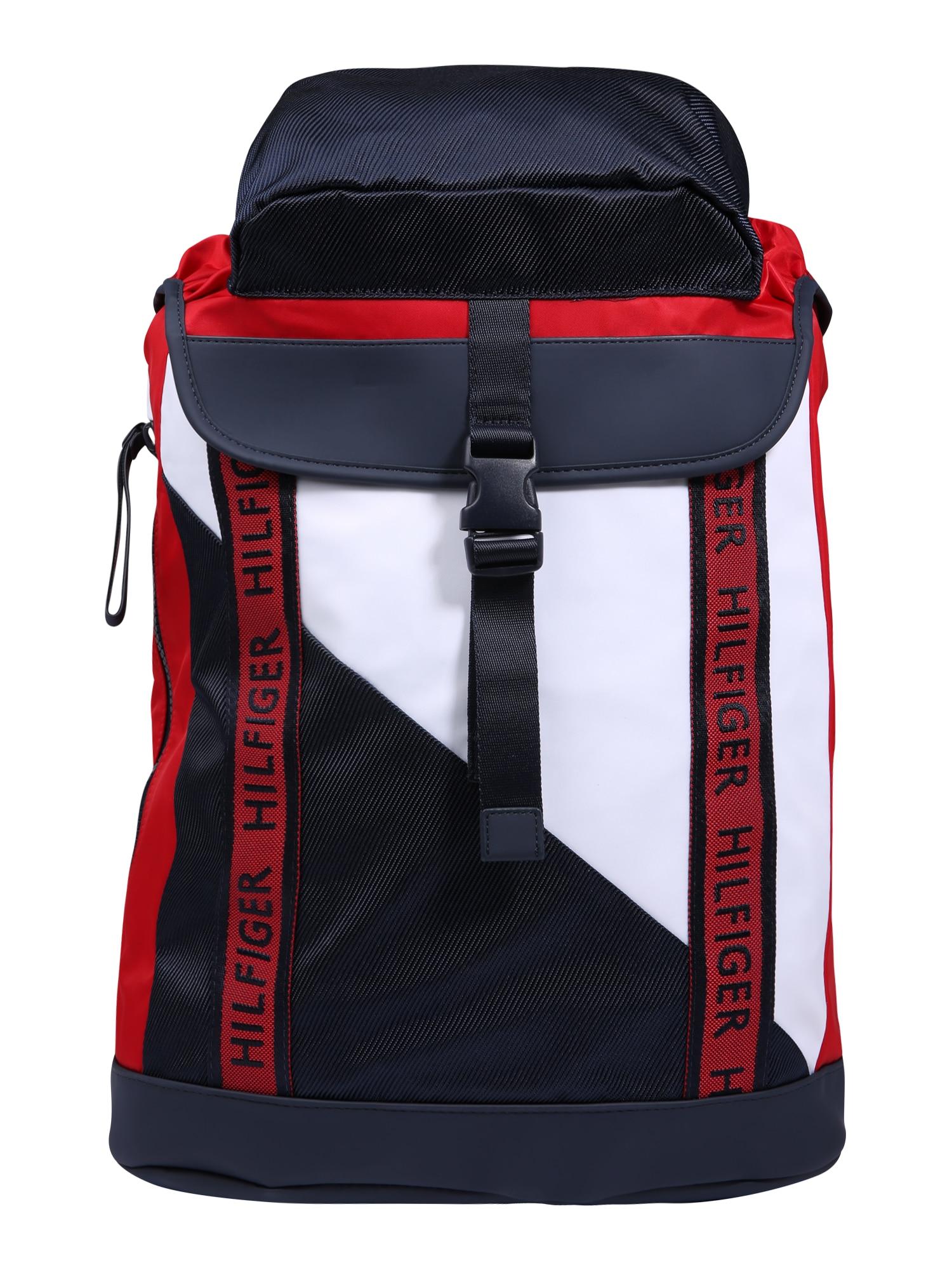 Batoh Color Mix Flap tmavě modrá červená bílá TOMMY HILFIGER