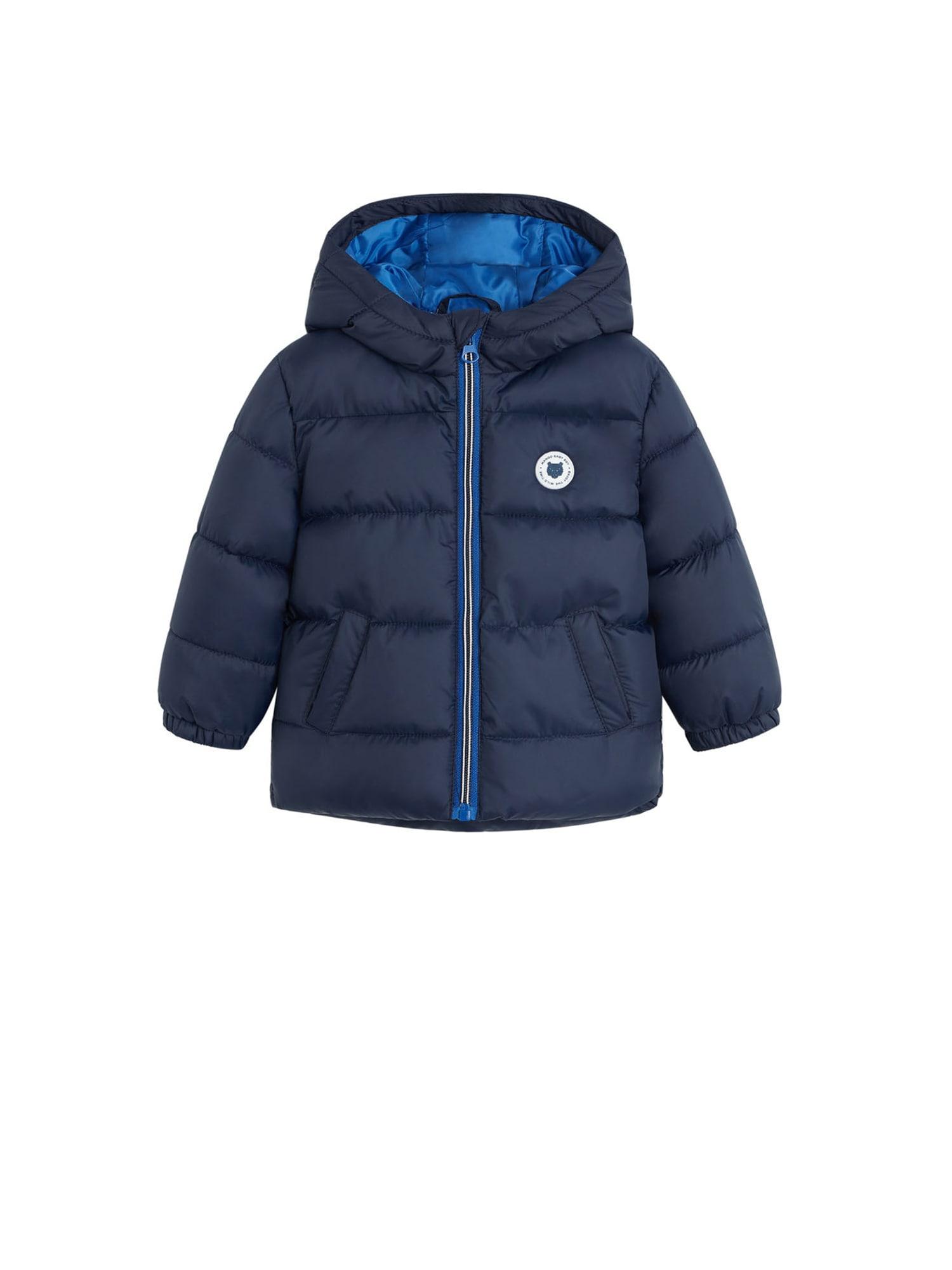 MANGO KIDS Zimní bunda 'Aldo5'  námořnická modř / bílá