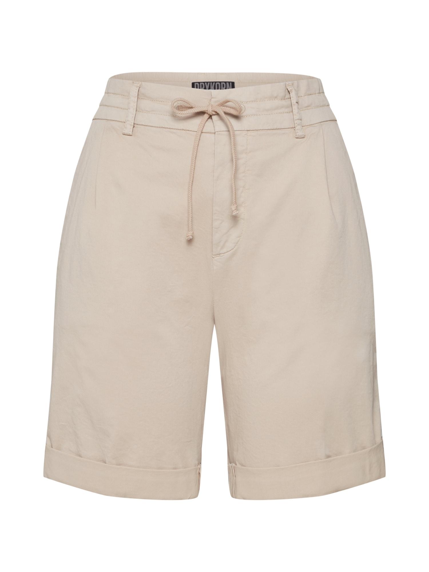 Kalhoty se sklady v pase TRAINEE béžová DRYKORN