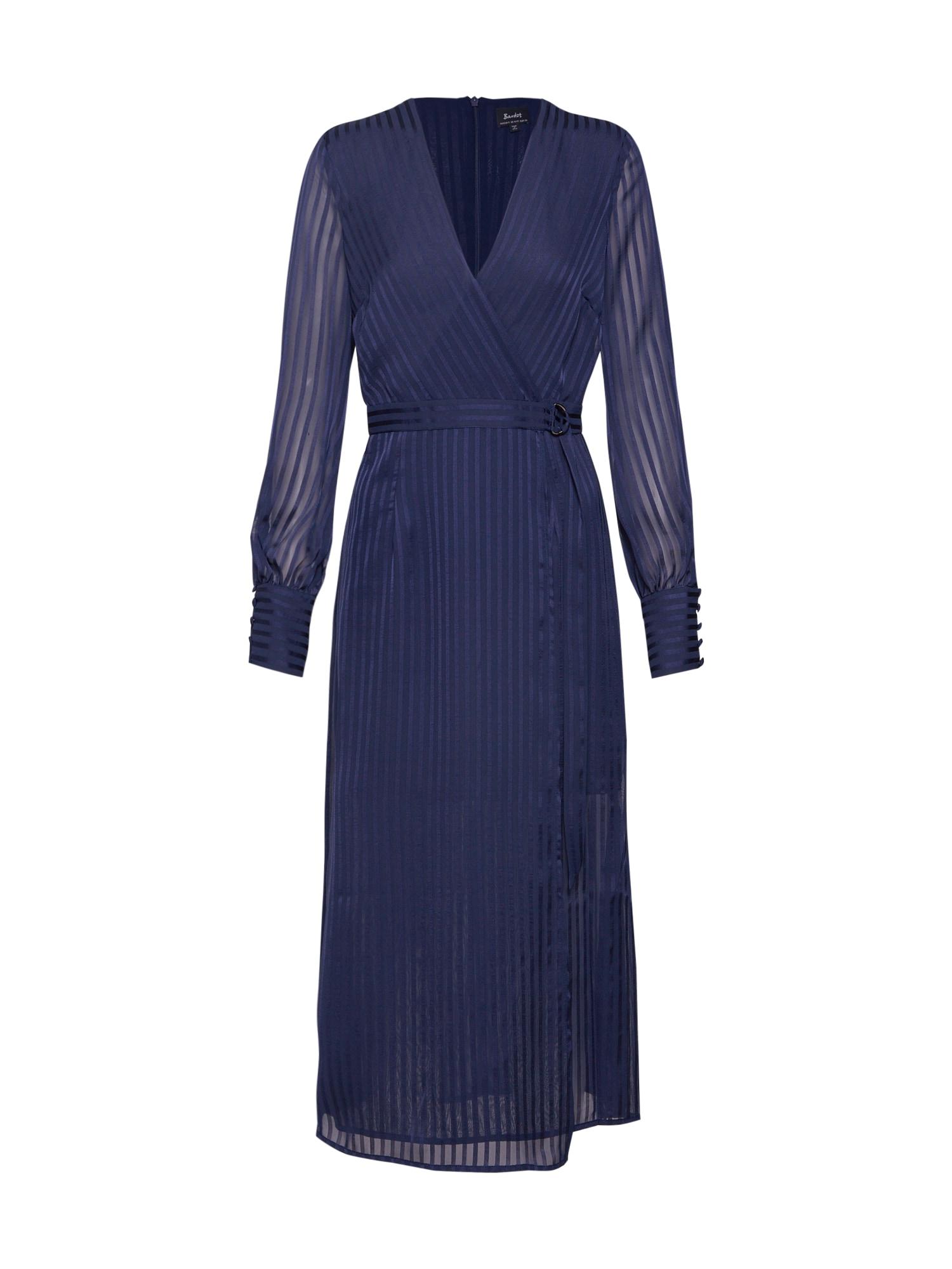 Šaty SHADOW STRIPE DRESS marine modrá Bardot