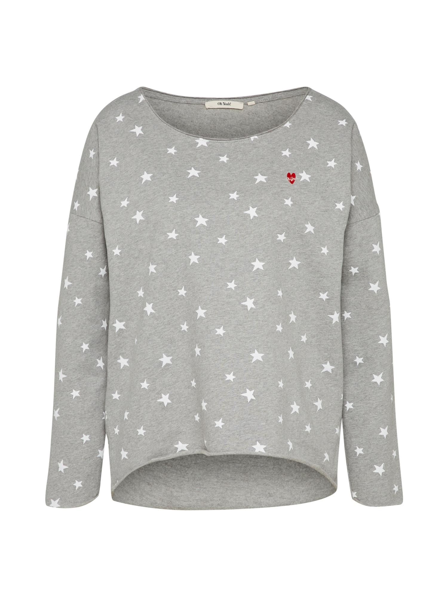 Oh Yeah!, Dames Sweatshirt, grijs