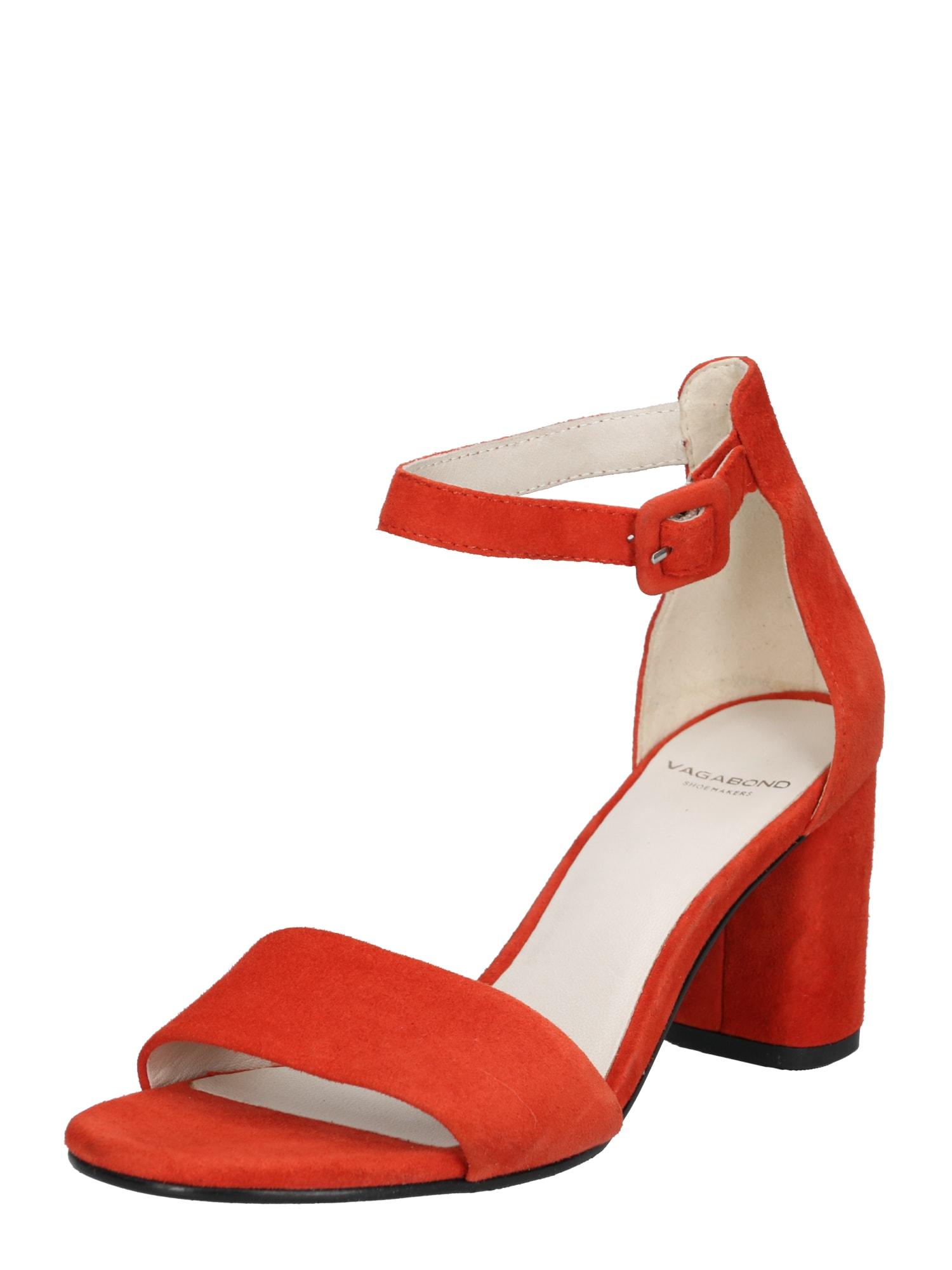 Páskové sandály Penny červená VAGABOND SHOEMAKERS