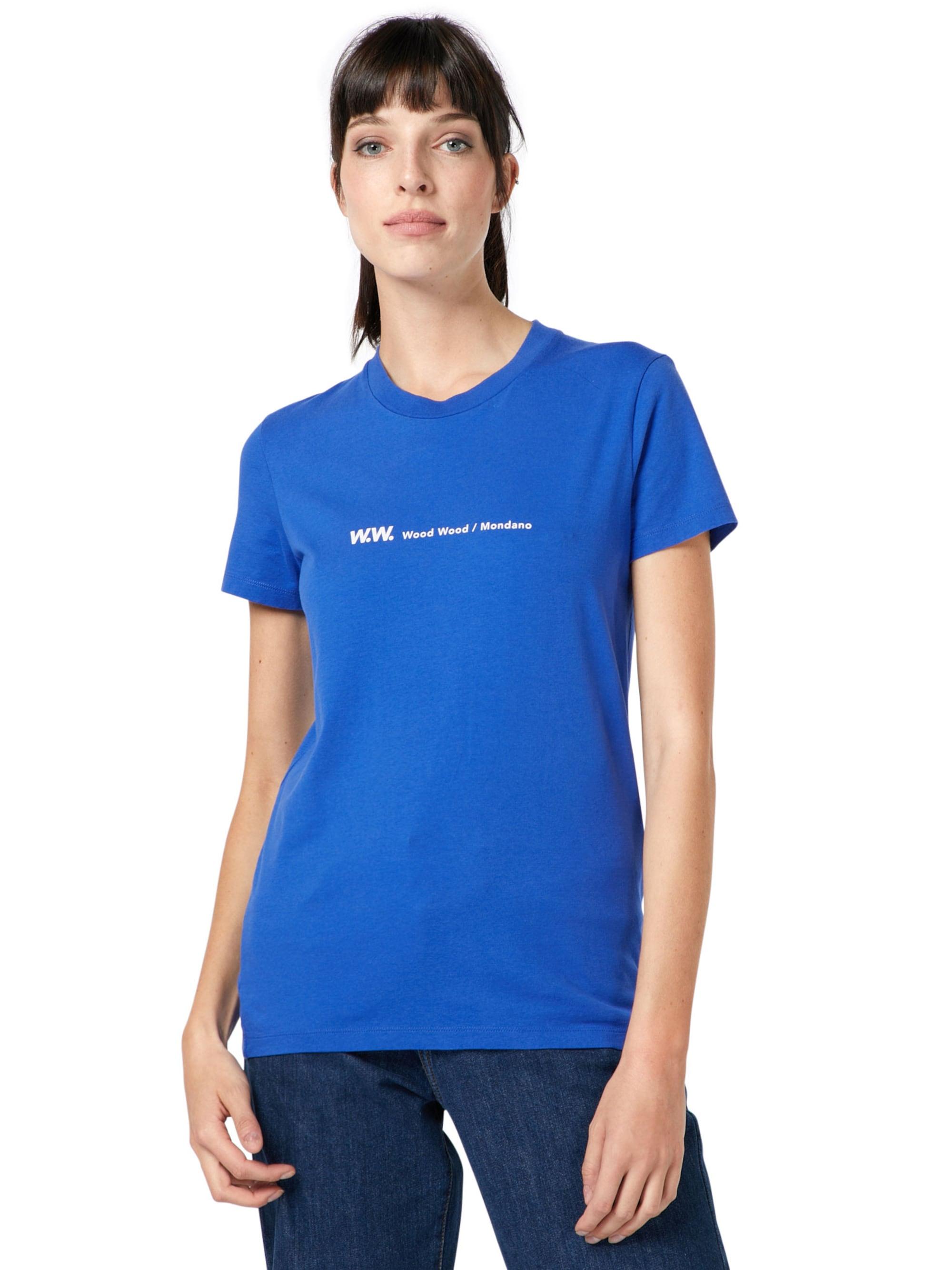 WOOD WOOD Koszulka 'Eden'  niebieski