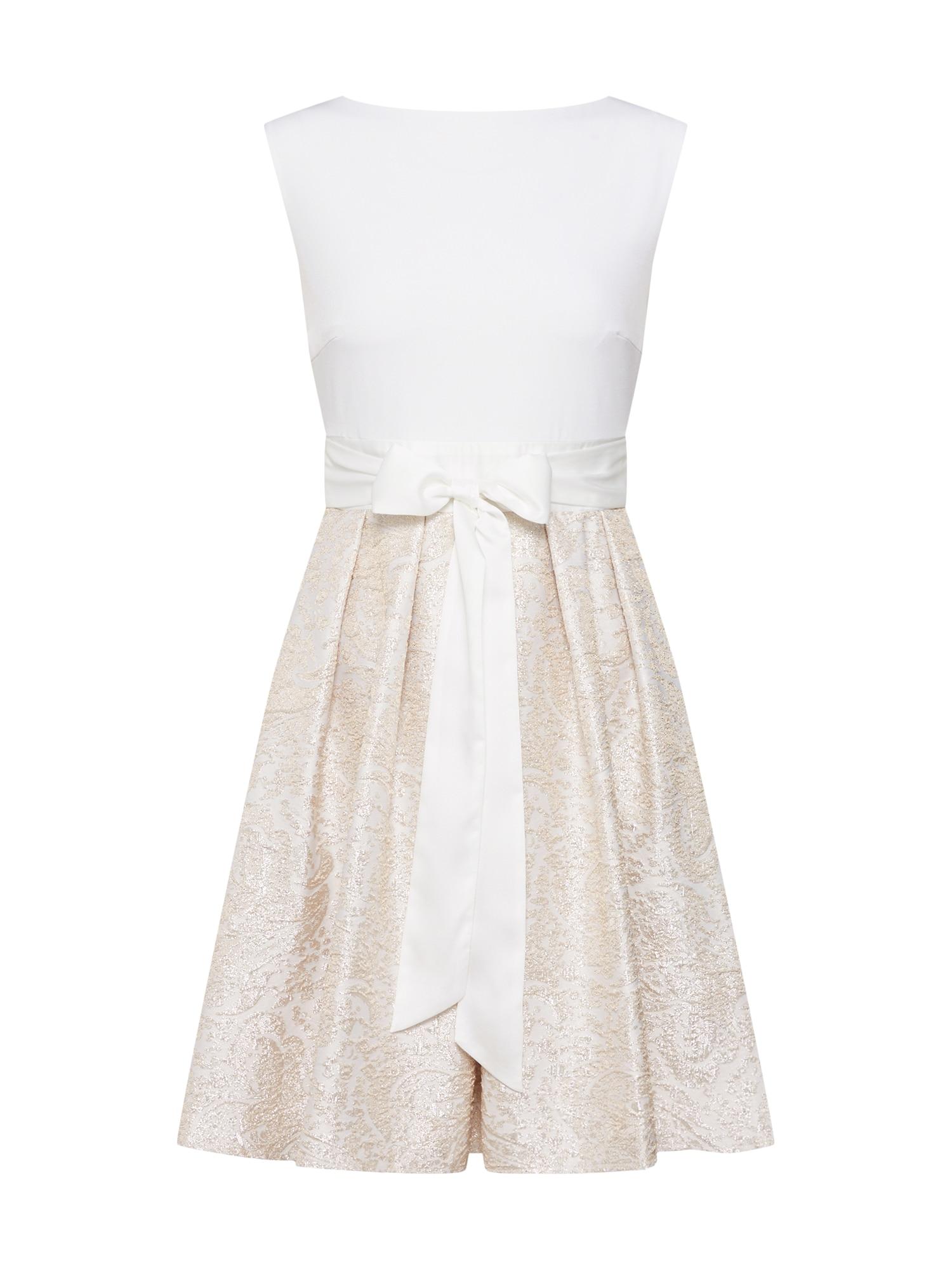 SWING Sukienka koktajlowa  kremowy / złoty / biały