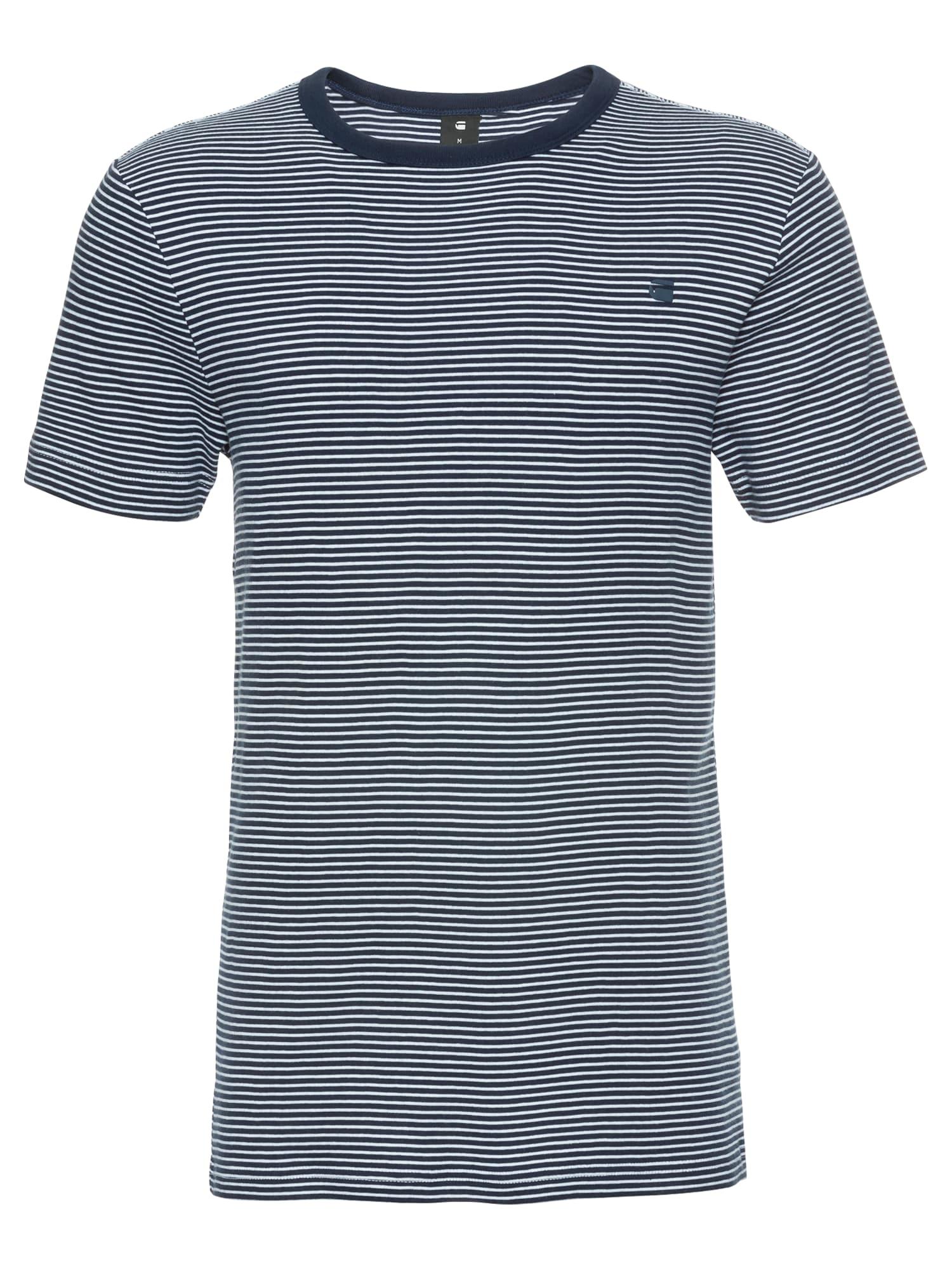 G-STAR RAW Heren Shirt Ciaran stripe r t s s blauw wit