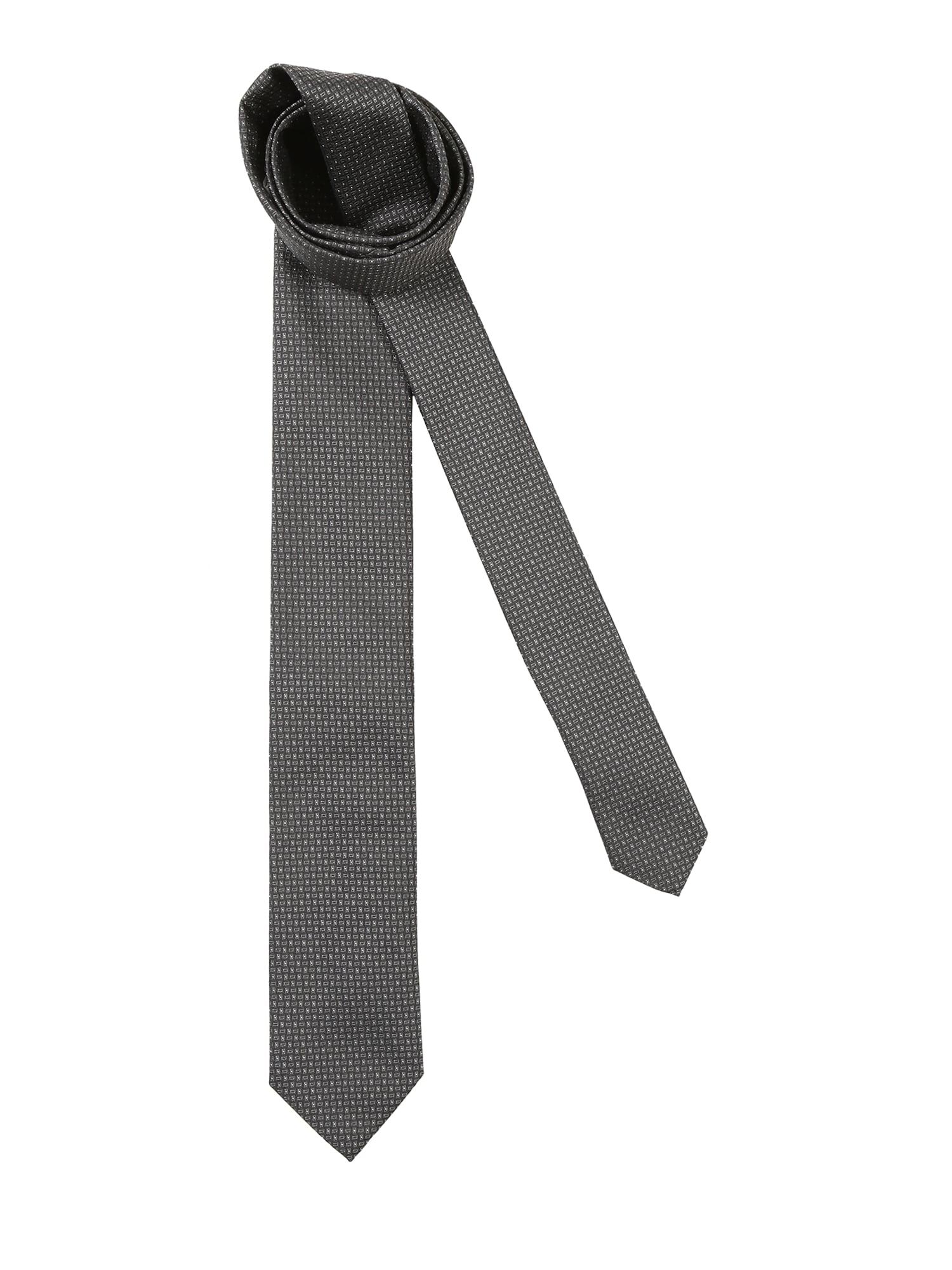 Kravata 6 cm šedá HUGO