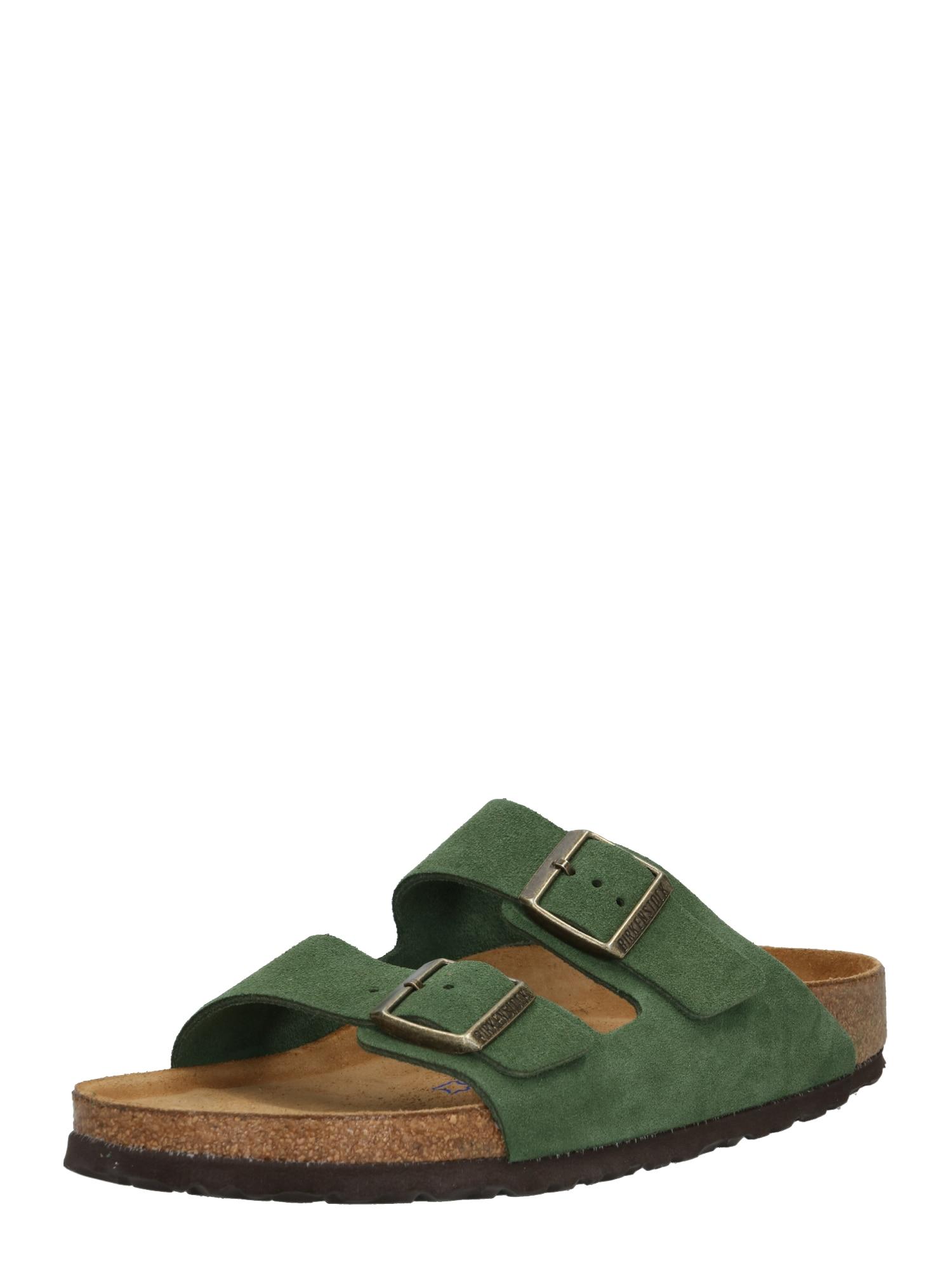 Pantofle Arizona Suede khaki BIRKENSTOCK