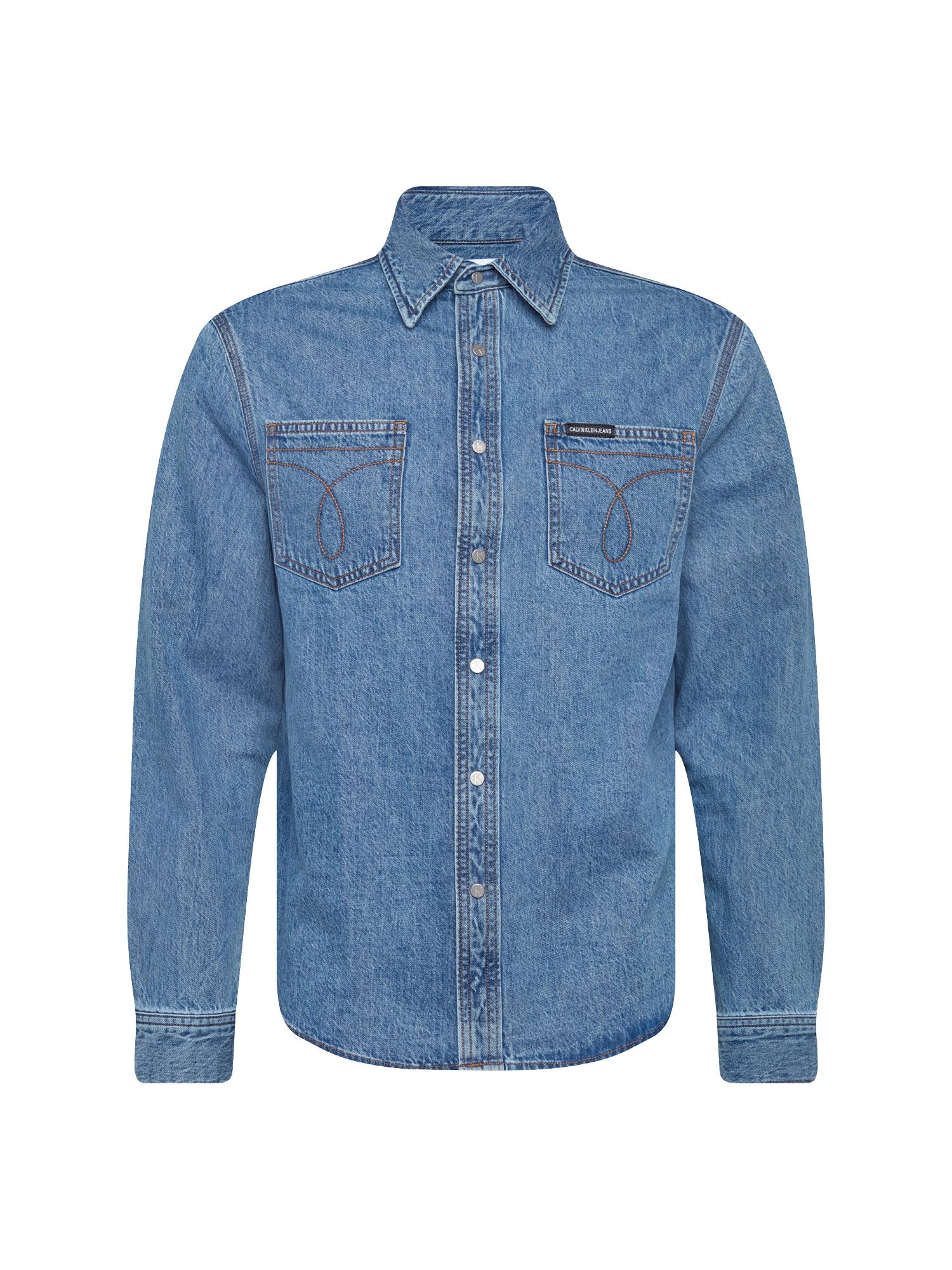 Košile Utility Omega modrá džínovina Calvin Klein Jeans