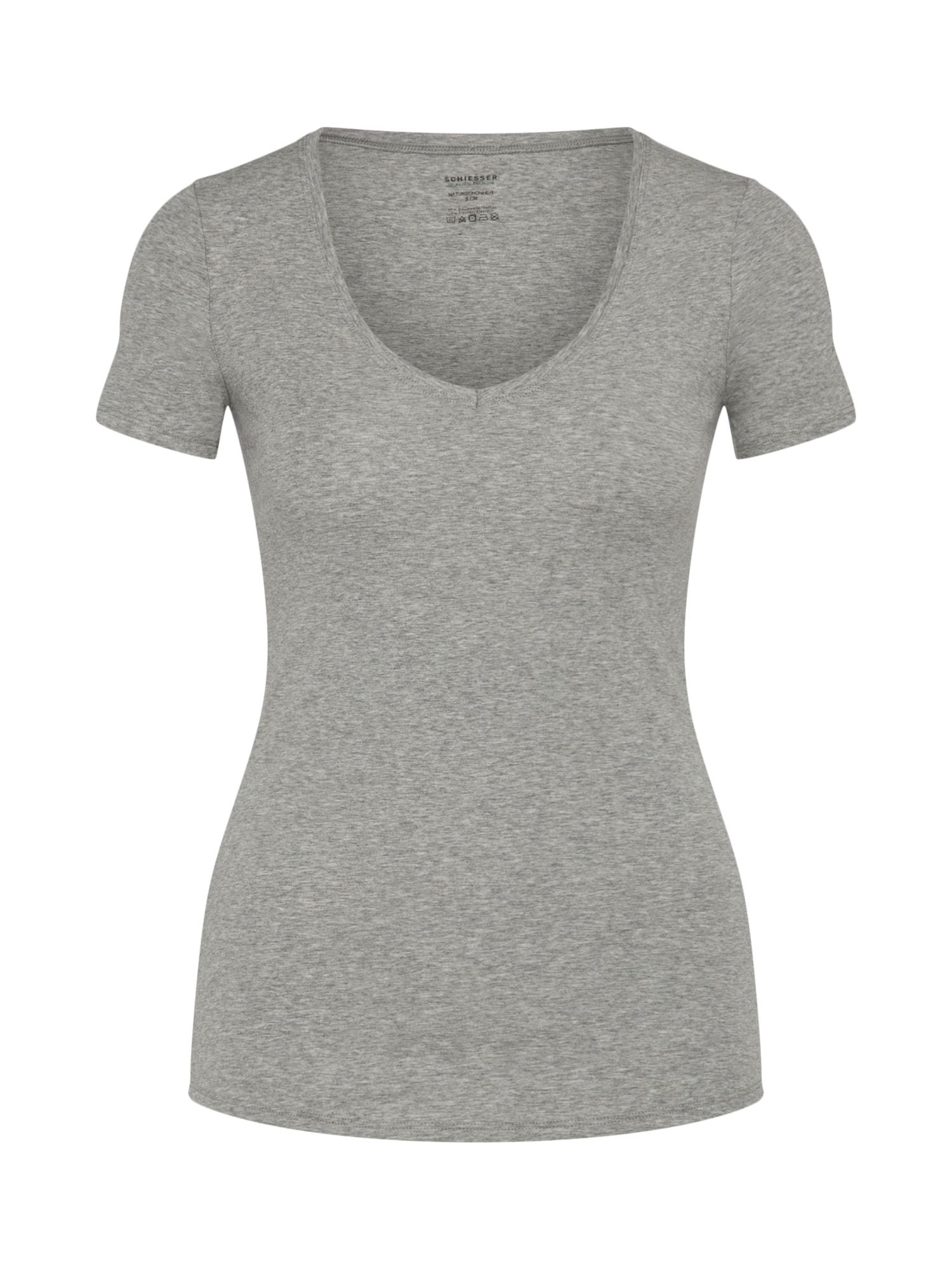 Tričko na spaní šedá SCHIESSER