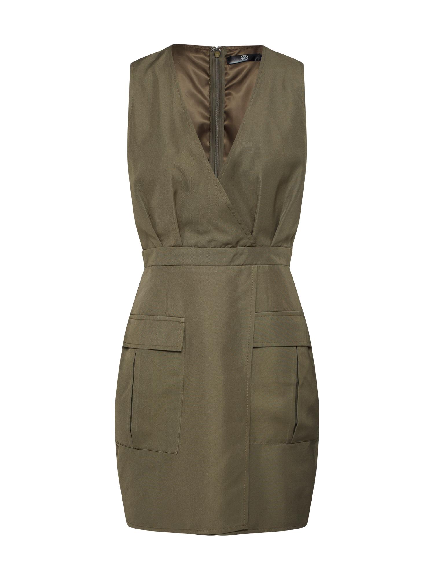 Missguided Šaty 'Sleeveless Utility Dress'  khaki