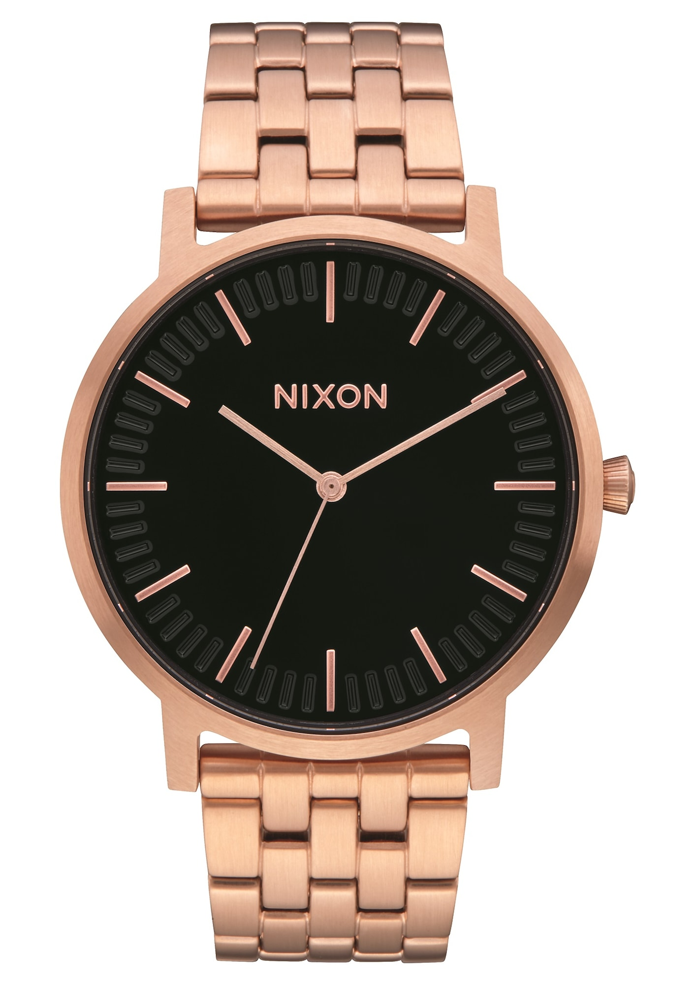 Analogové hodinky Porter bronzová zlatá černá Nixon