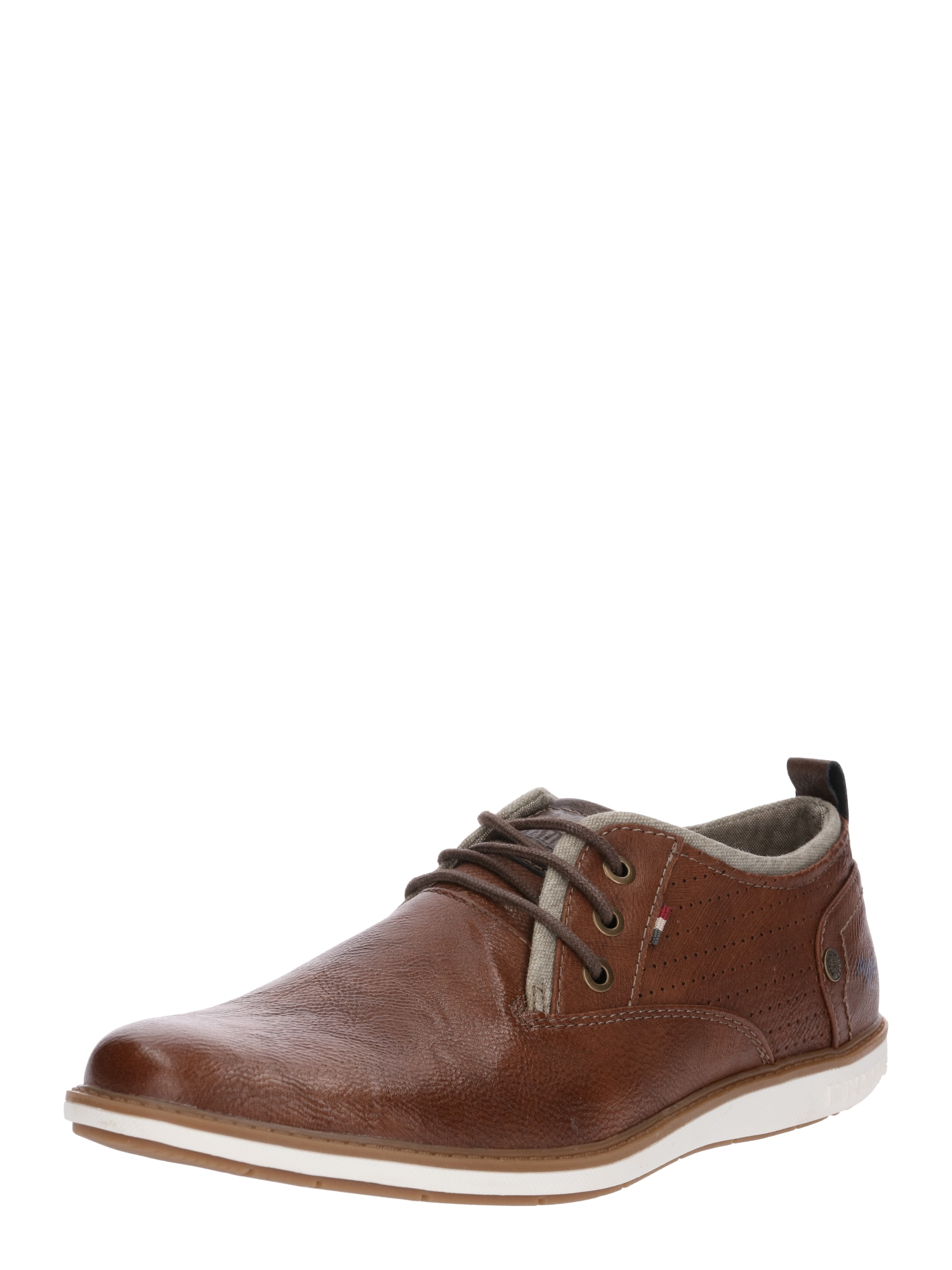 Šněrovací boty 4111303 koňaková MUSTANG