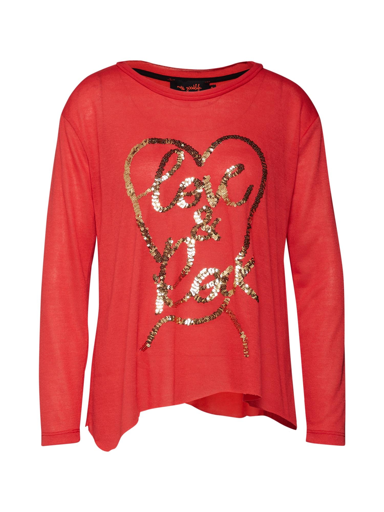 Tričko Love & Rock červená Miss Goodlife