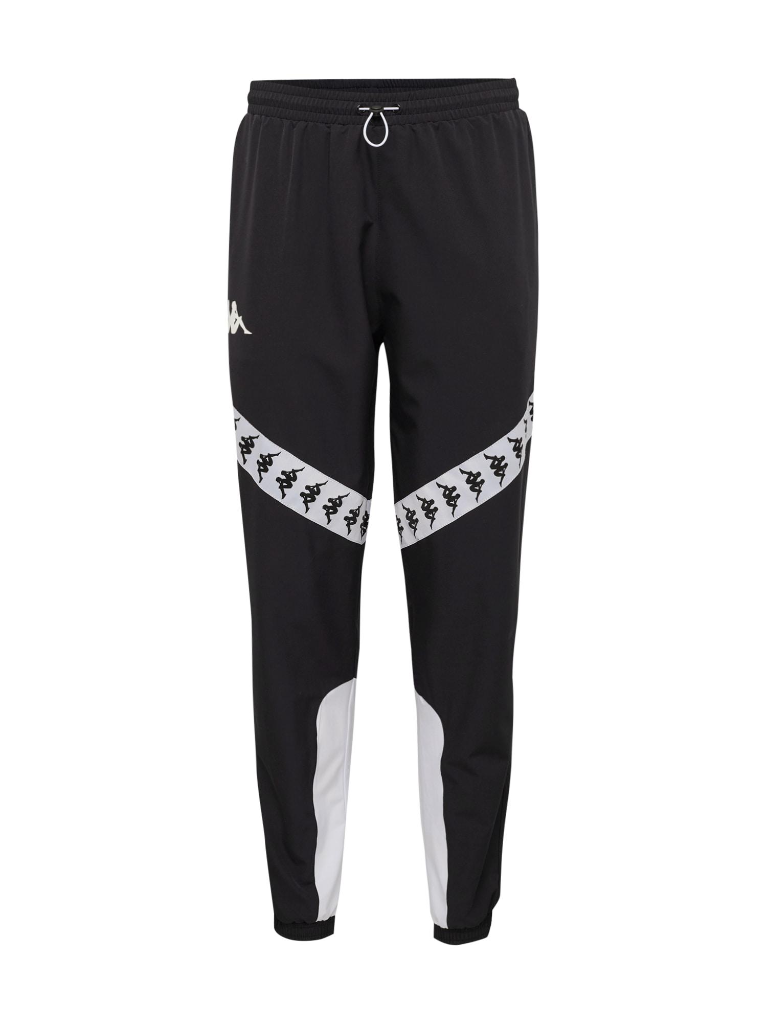 Kalhoty 222 BANDA BALMAR černá bílá KAPPA