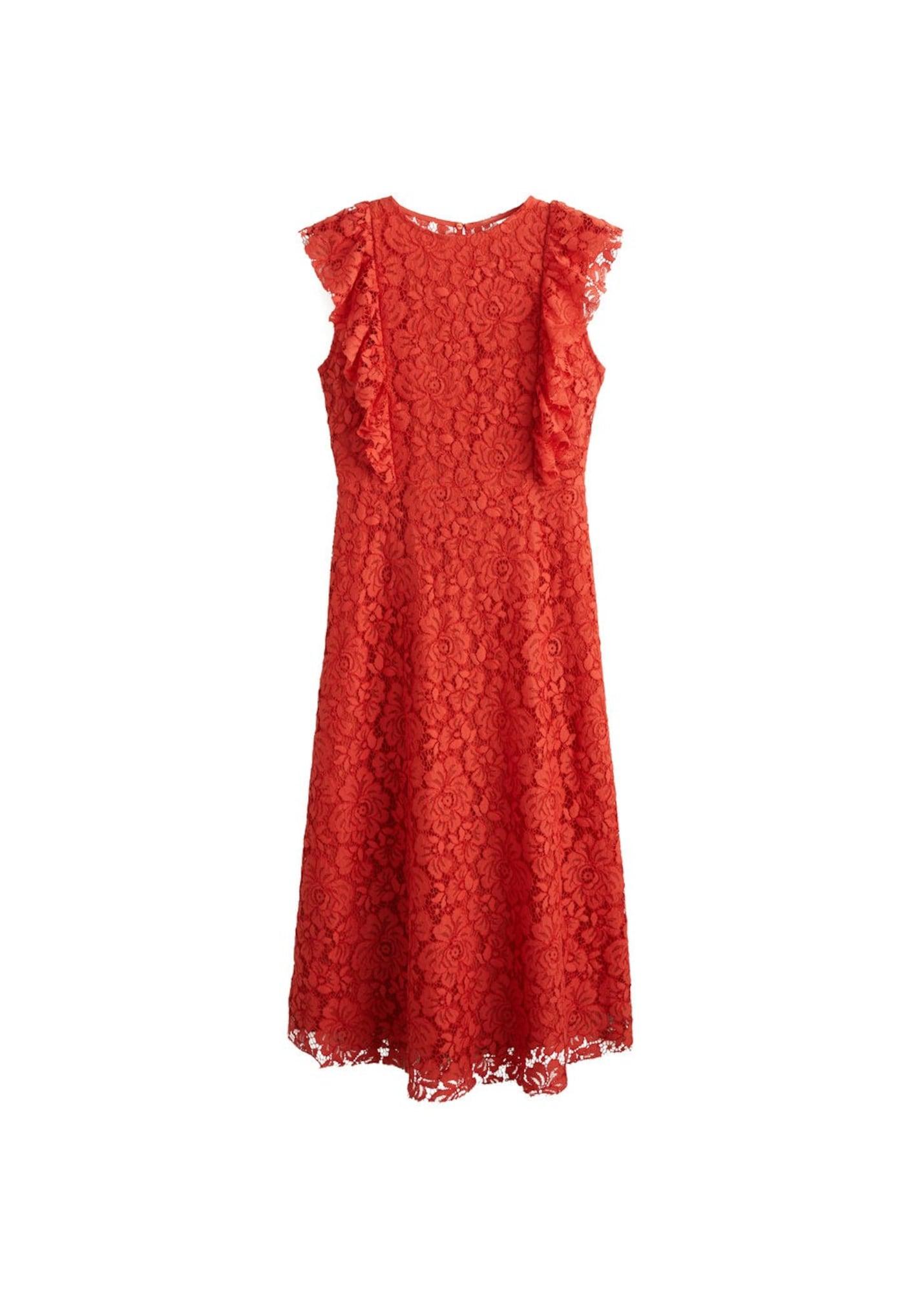 MANGO Sukienka koktajlowa 'Sophia'  czerwony