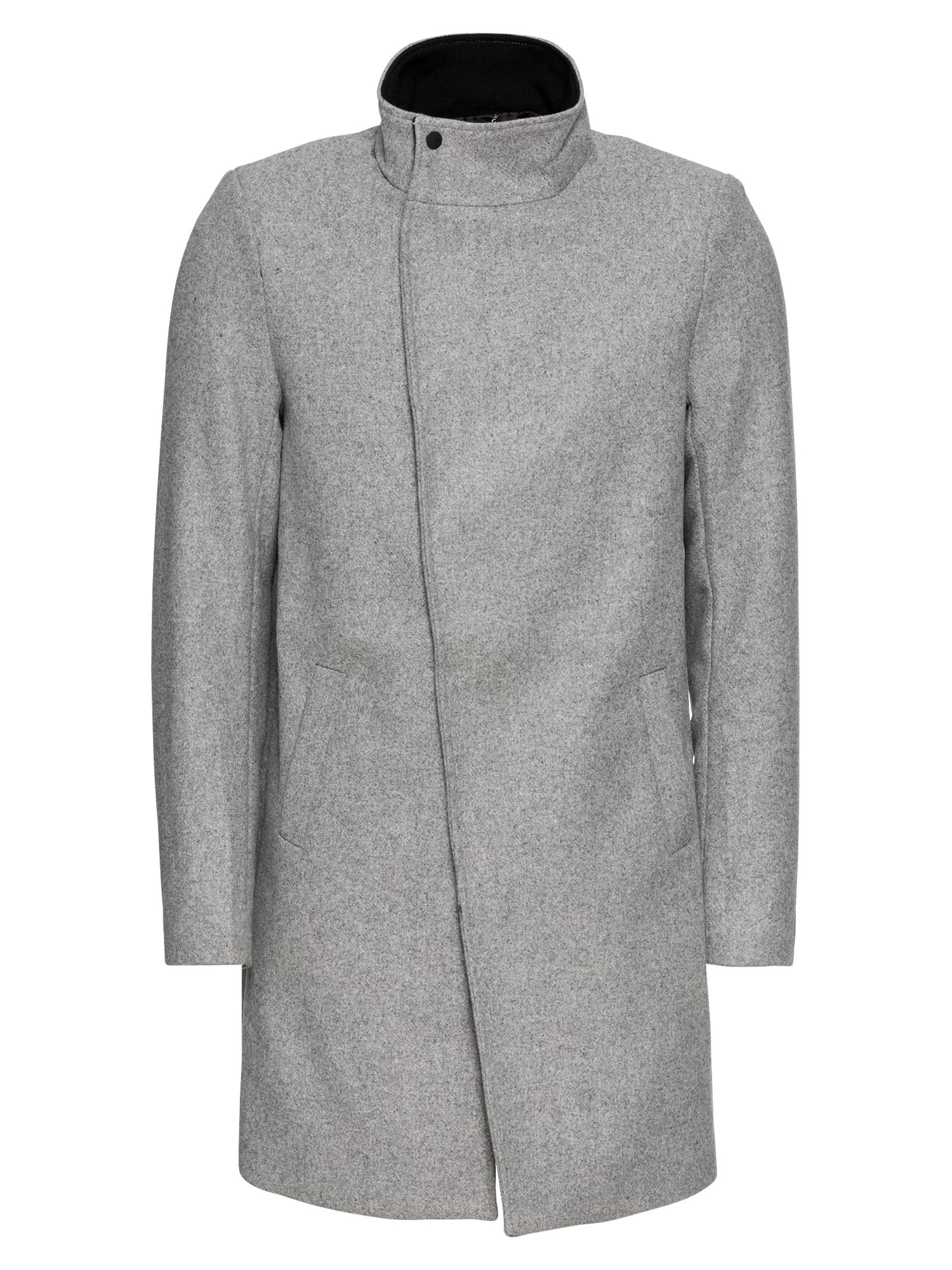 Zimní kabát onsOSCAR WOOL COAT světle šedá Only & Sons