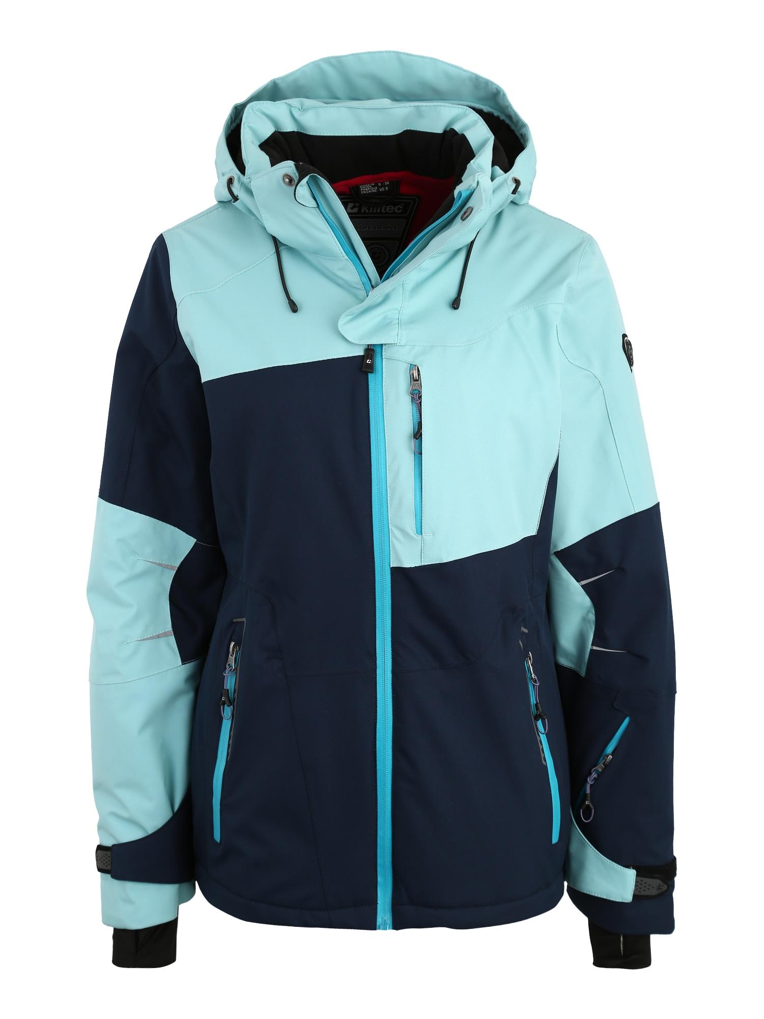 Sportovní bunda Luira tyrkysová tmavě modrá KILLTEC