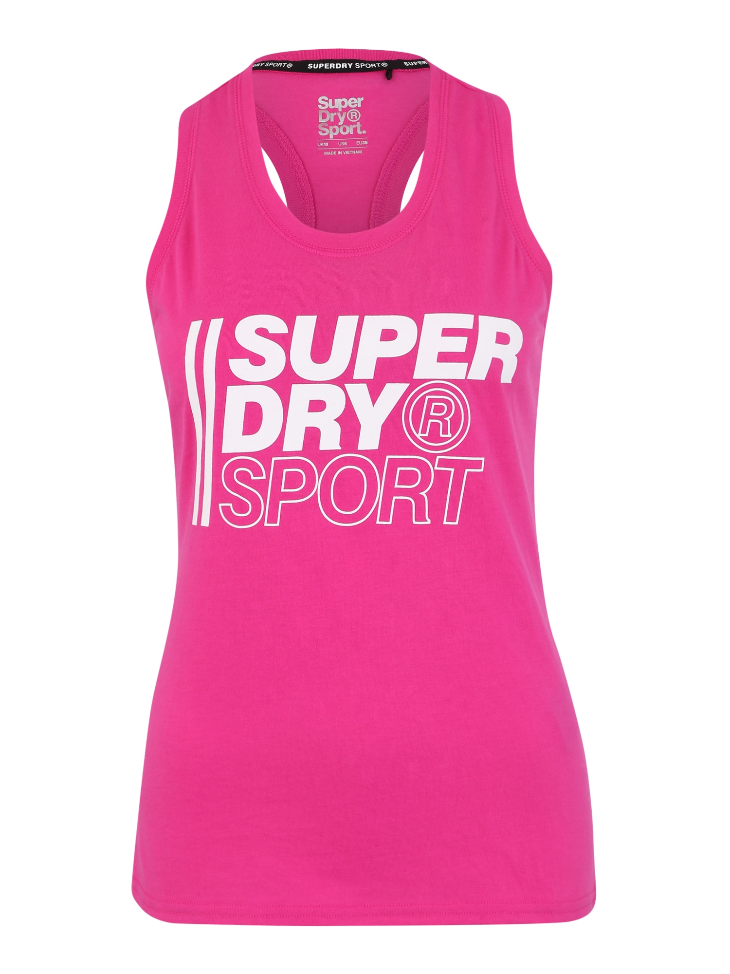 Sportovní top pink bílá Superdry
