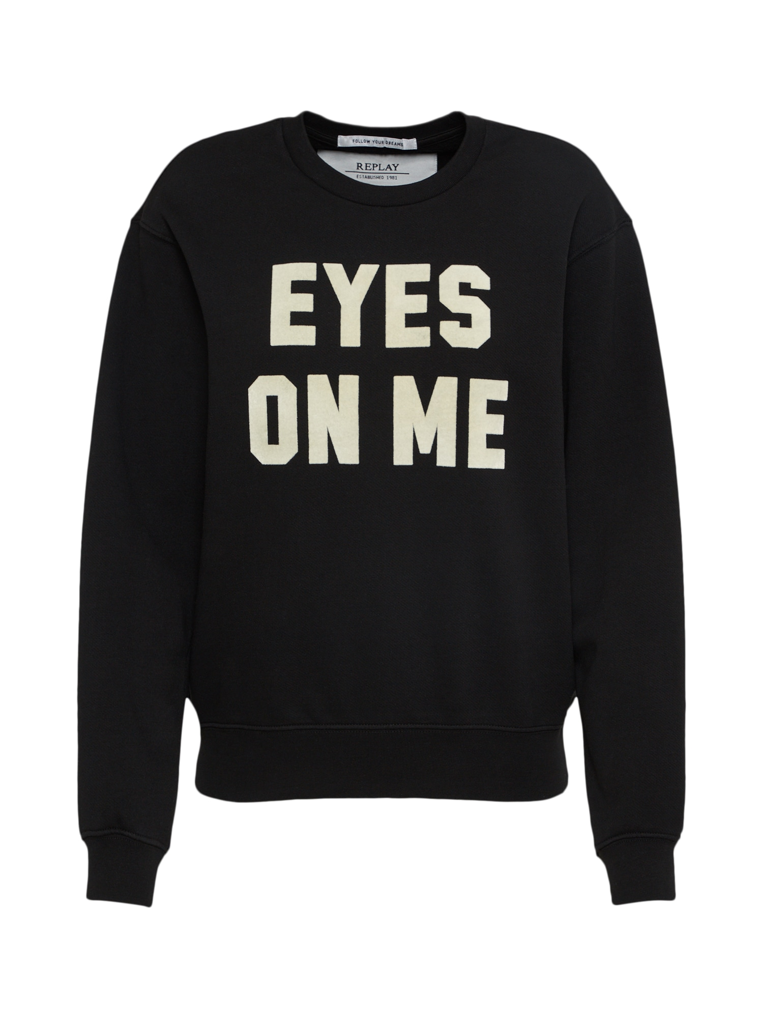REPLAY Dames Sweatshirt zwart