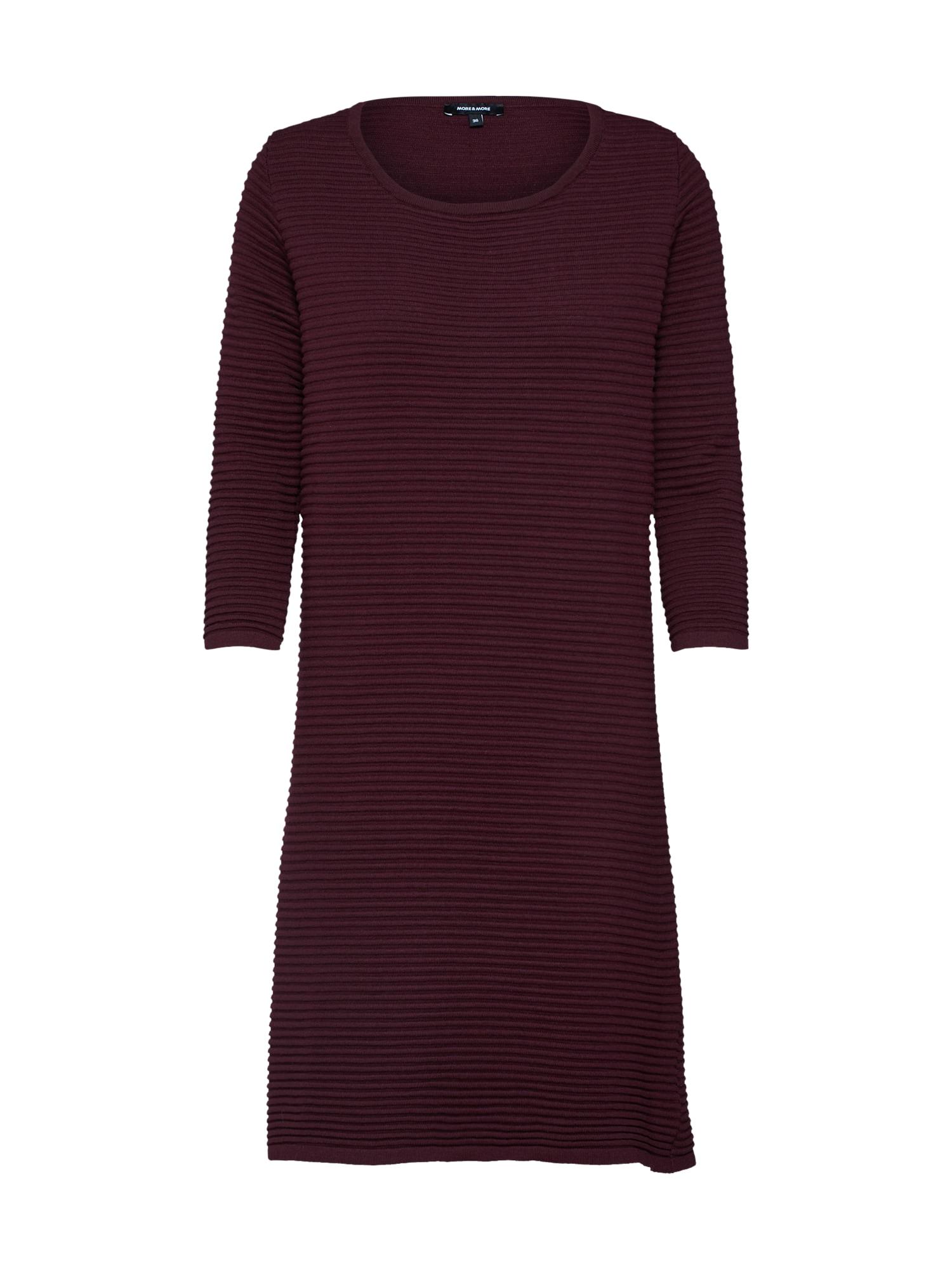 Úpletové šaty bobule MORE & MORE