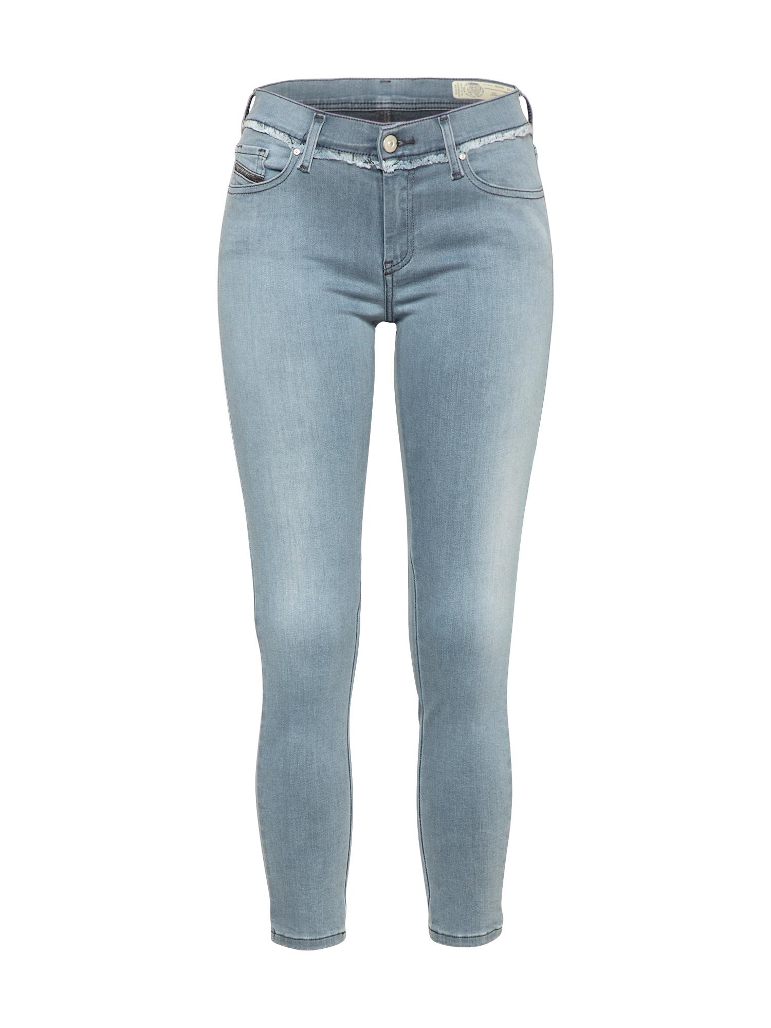 DIESEL Dames Jeans SLANDY-ANKLE-W grijs