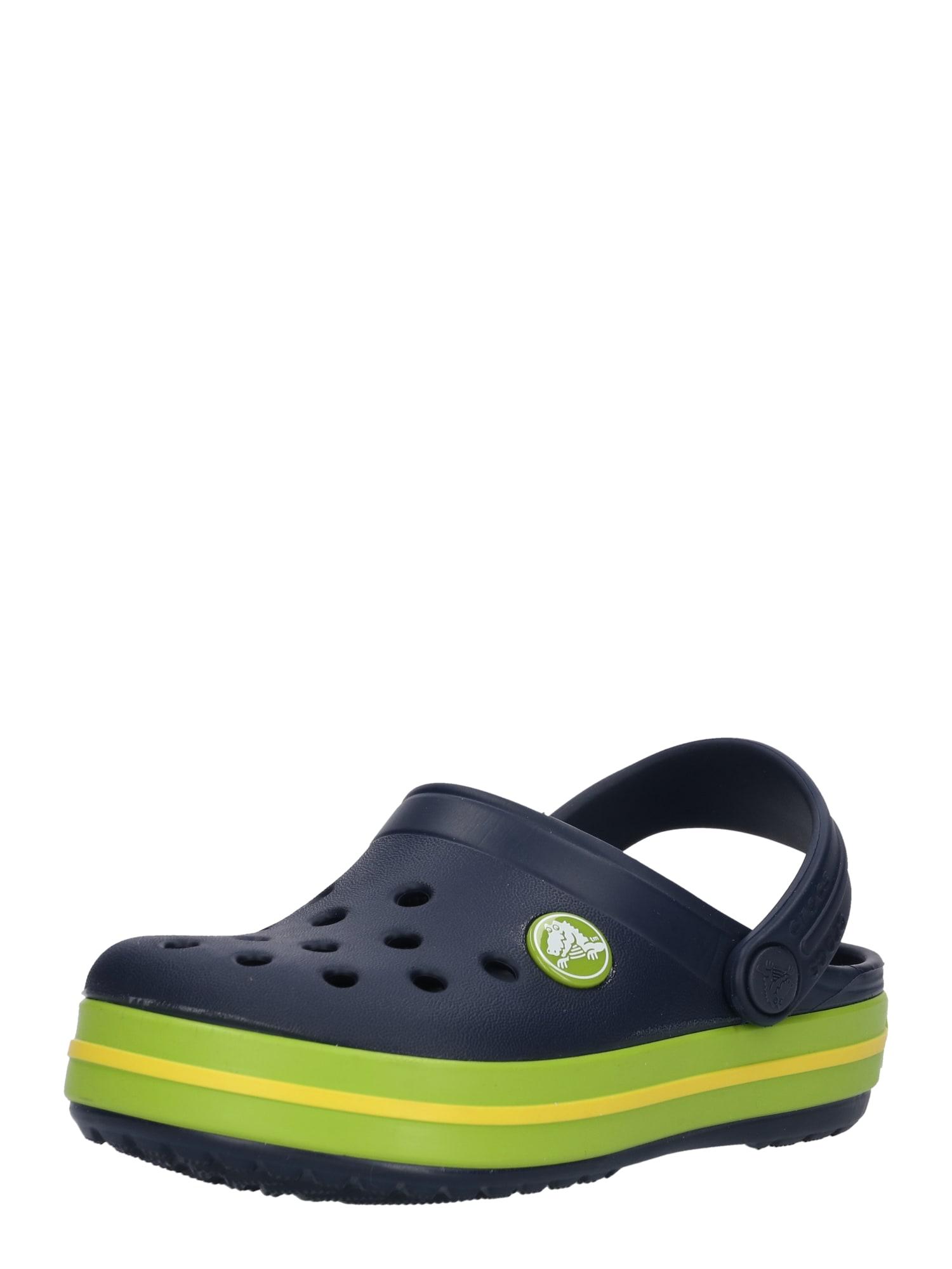 Polobotky Crocband noční modrá zelená Crocs