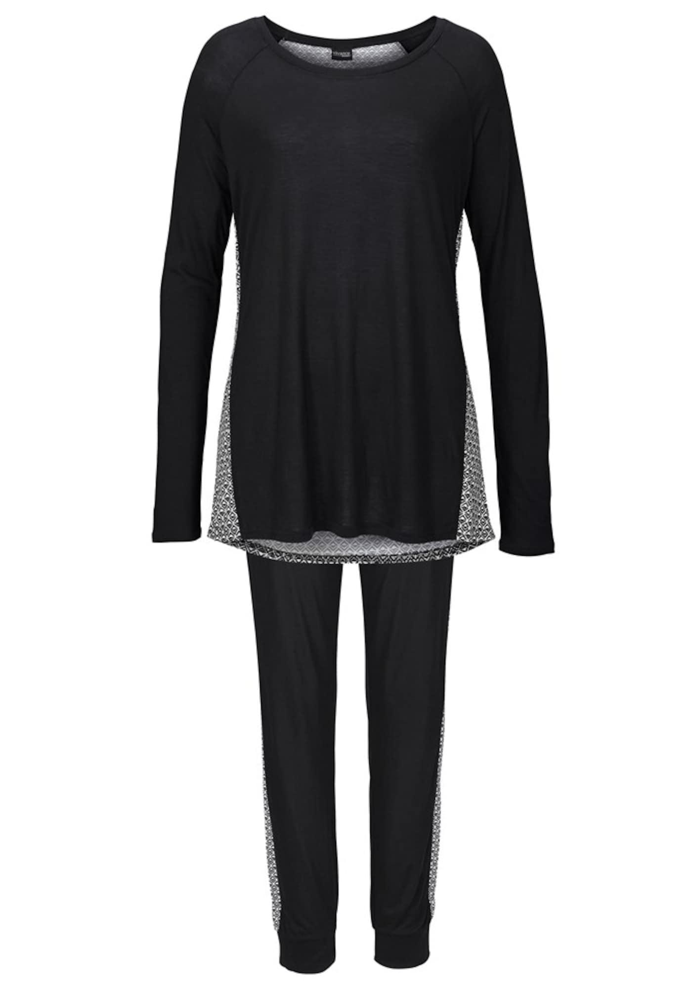 Pyjama | Bekleidung > Nachtwäsche > Pyjamas | Schwarz | VIVANCE