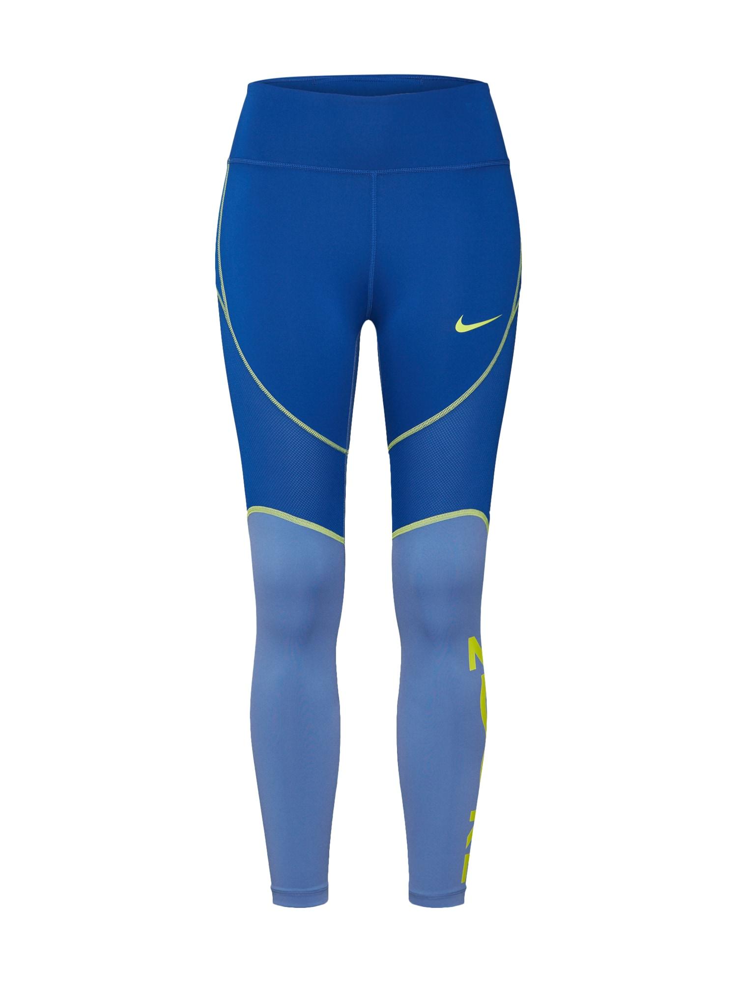 Sportovní kalhoty W NK ALL-IN 7_8 TGHT SD  modrá  žlutá NIKE