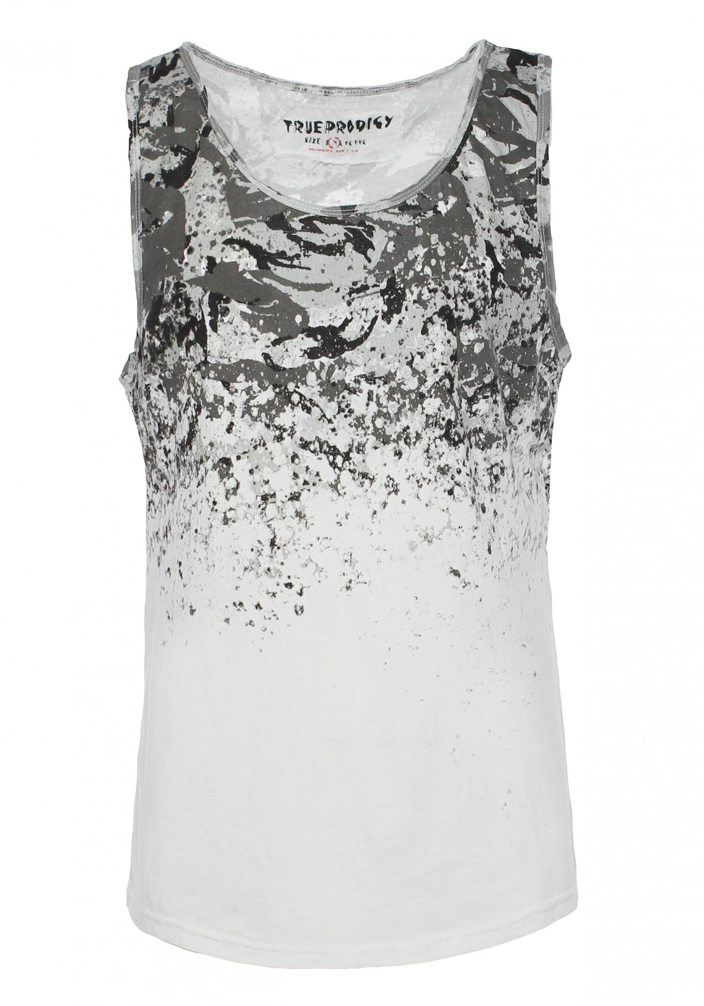 Tank-Top 'Jones' | Bekleidung > Shirts > Tank Tops | Dunkelgrau - Rot - Weiß | Trueprodigy