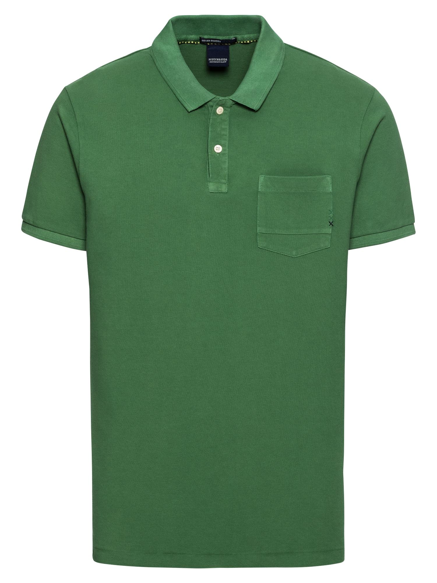 SCOTCH  and  SODA Heren Shirt Ams Blauw garment dyed polo with XXX pocket groen