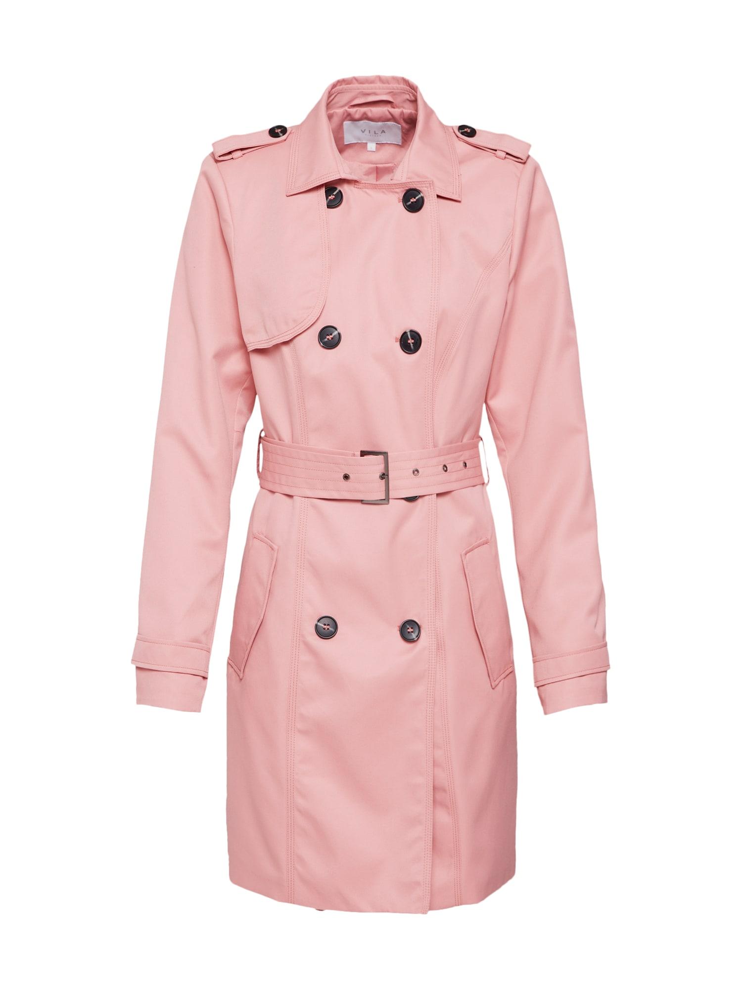 Přechodný kabát VITHREE růžová VILA