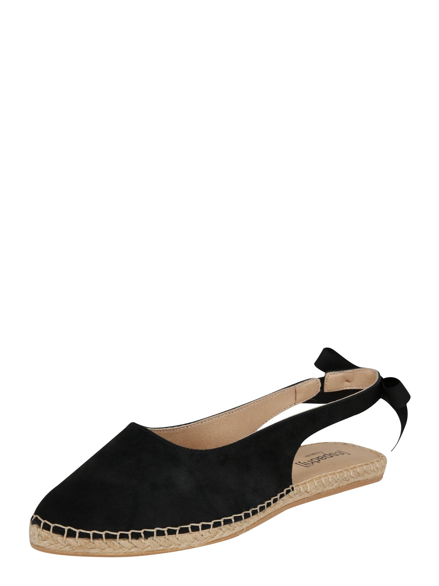Sandály Bastille černá Espadrij L´originale