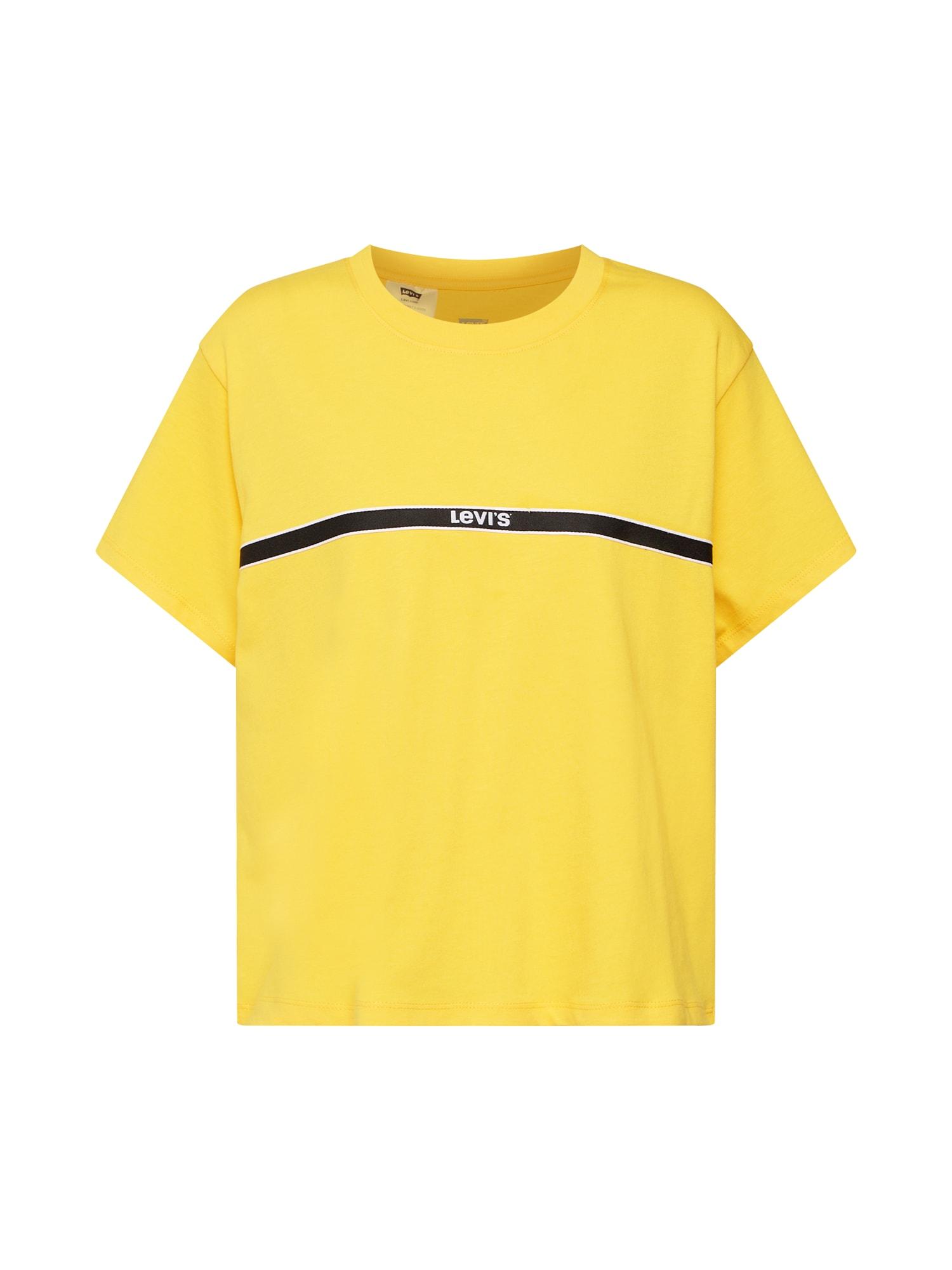 LEVIS Tričko GRAPHIC VARSITY TEE žlutá černá LEVI'S